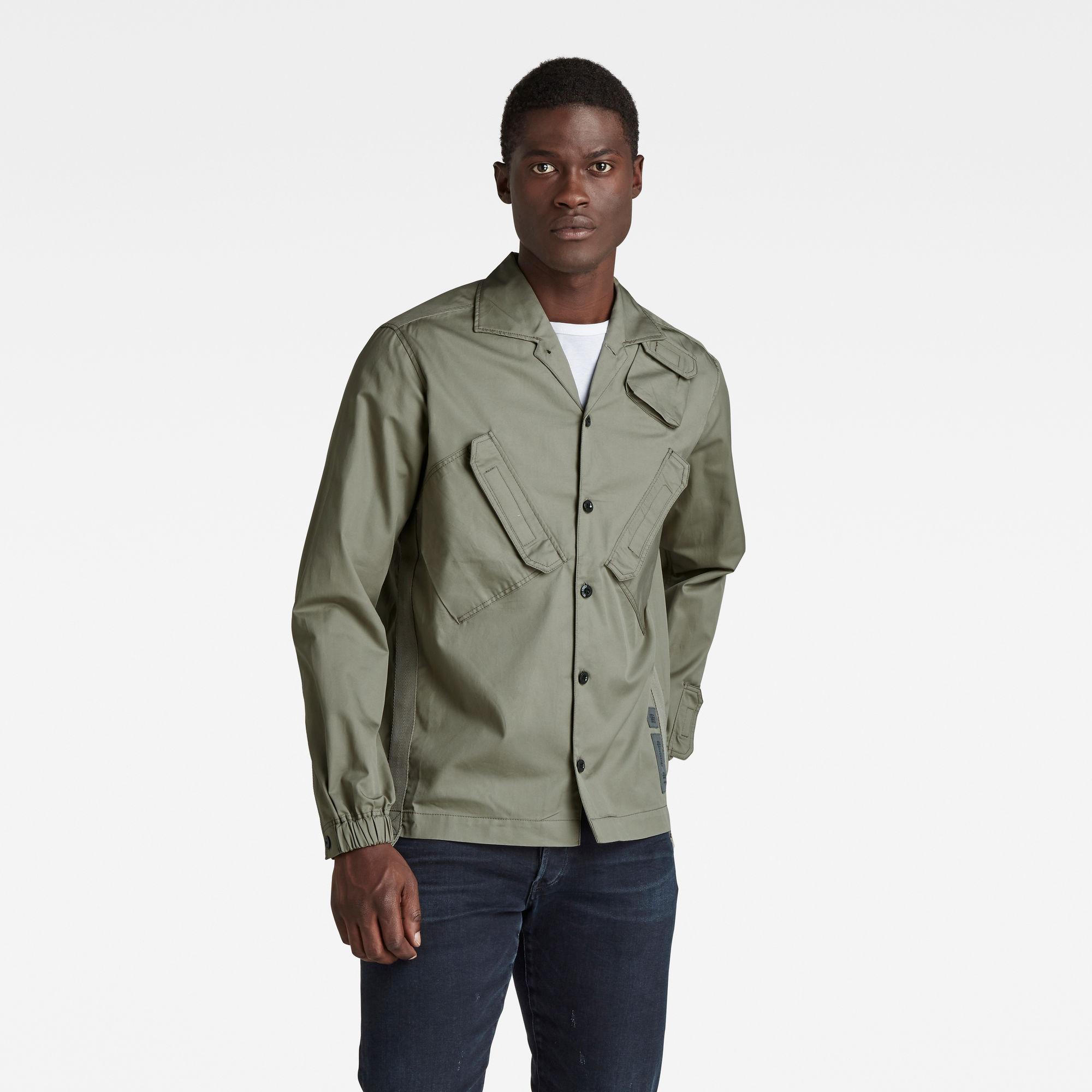 G-Star RAW Heren Multi Slant Pocket Relaxed Shirt Groen