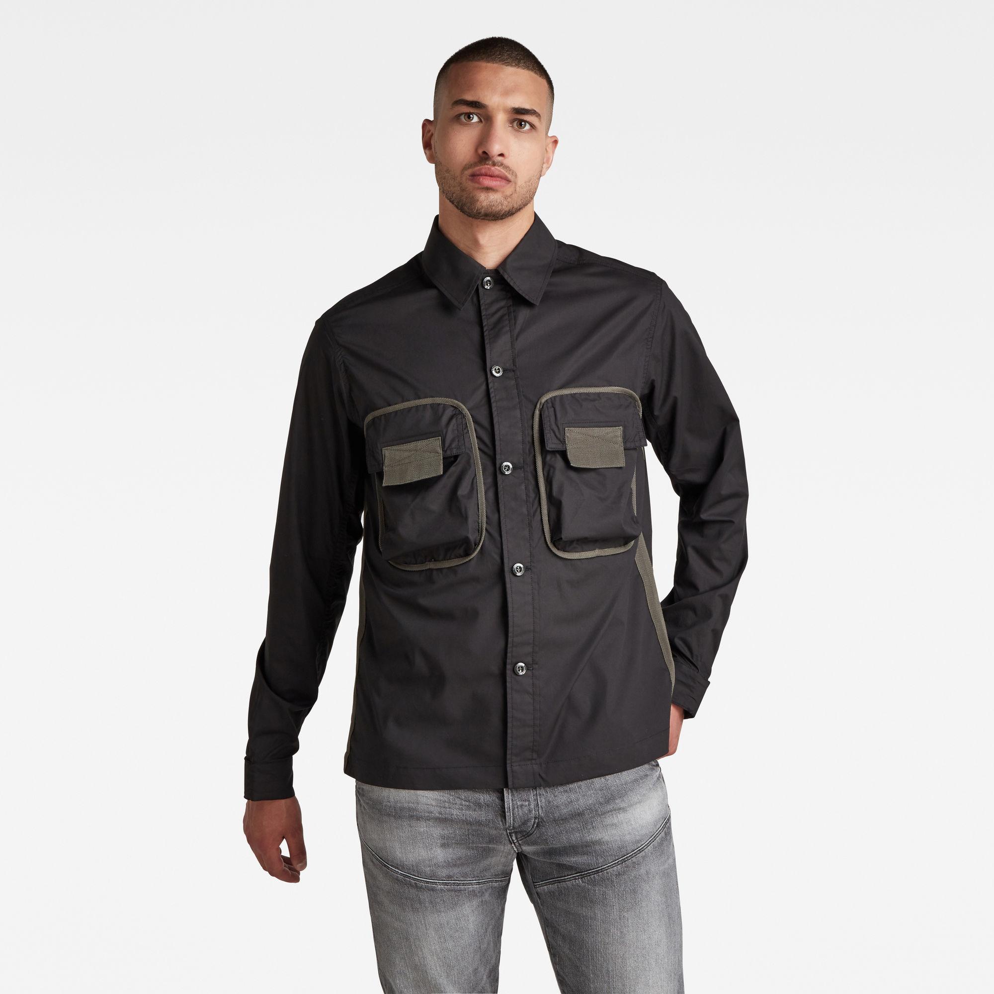 G-Star RAW Heren Army 2 Pocket Relaxed Shirt Zwart