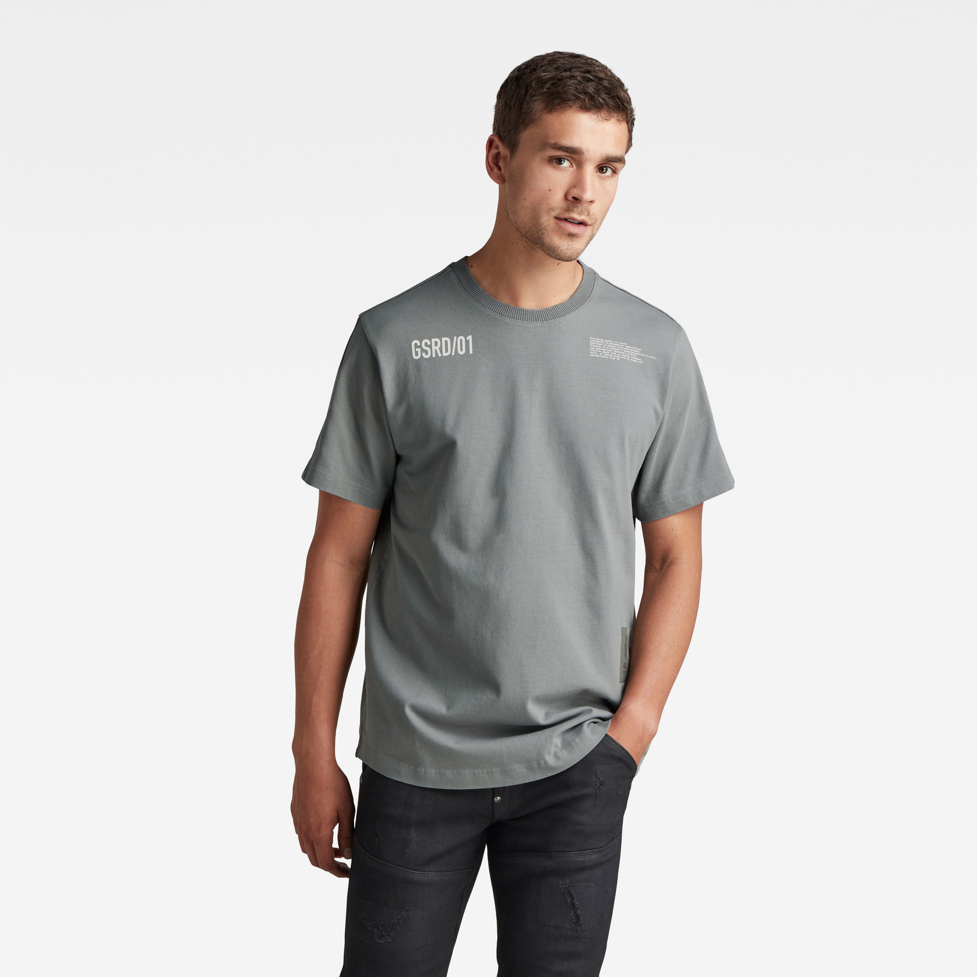 G-Star RAW Heren C&S Back Multi Graphic Loose T-Shirt Grijs