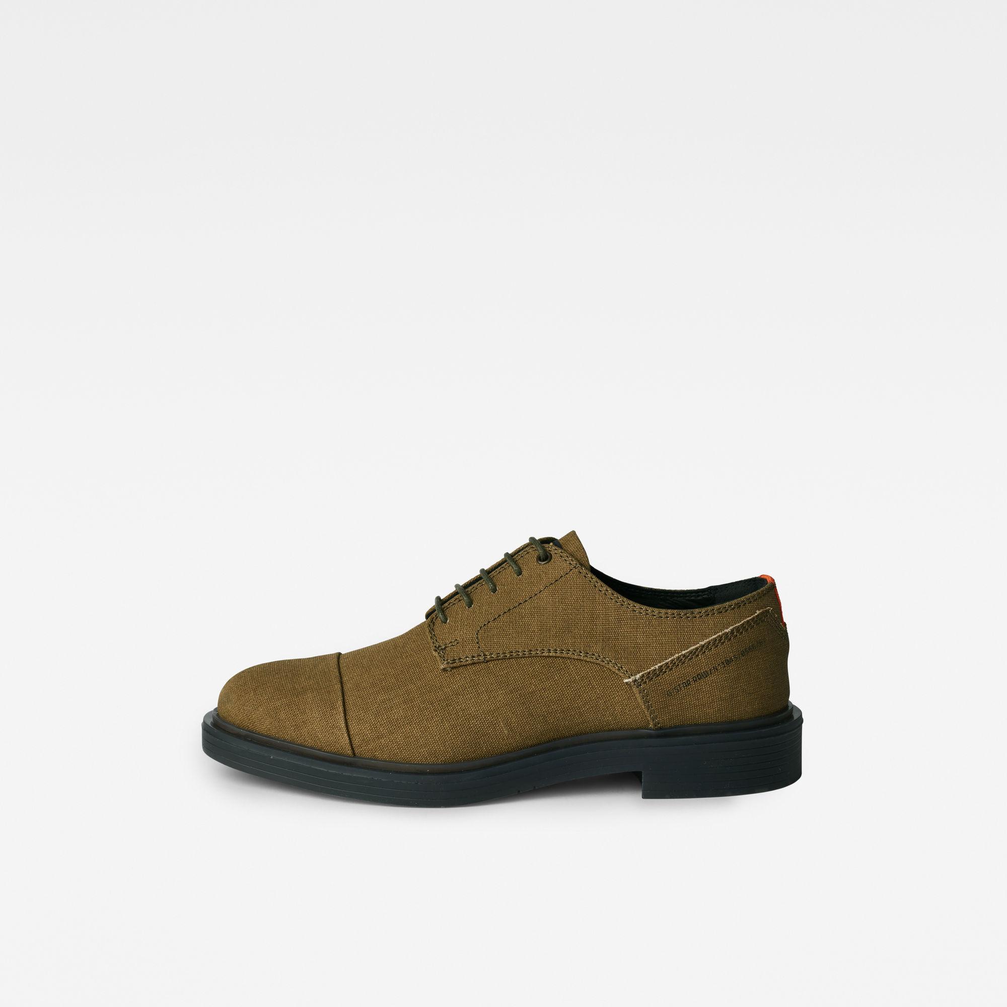 G-Star RAW Heren Vacum Derby Shoes Groen