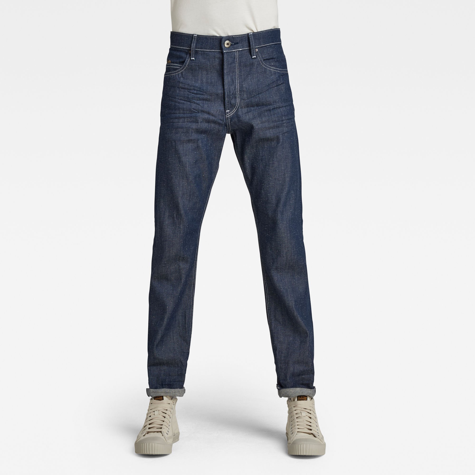 G-Star RAW Heren Triple A Straight Jeans C Donkerblauw