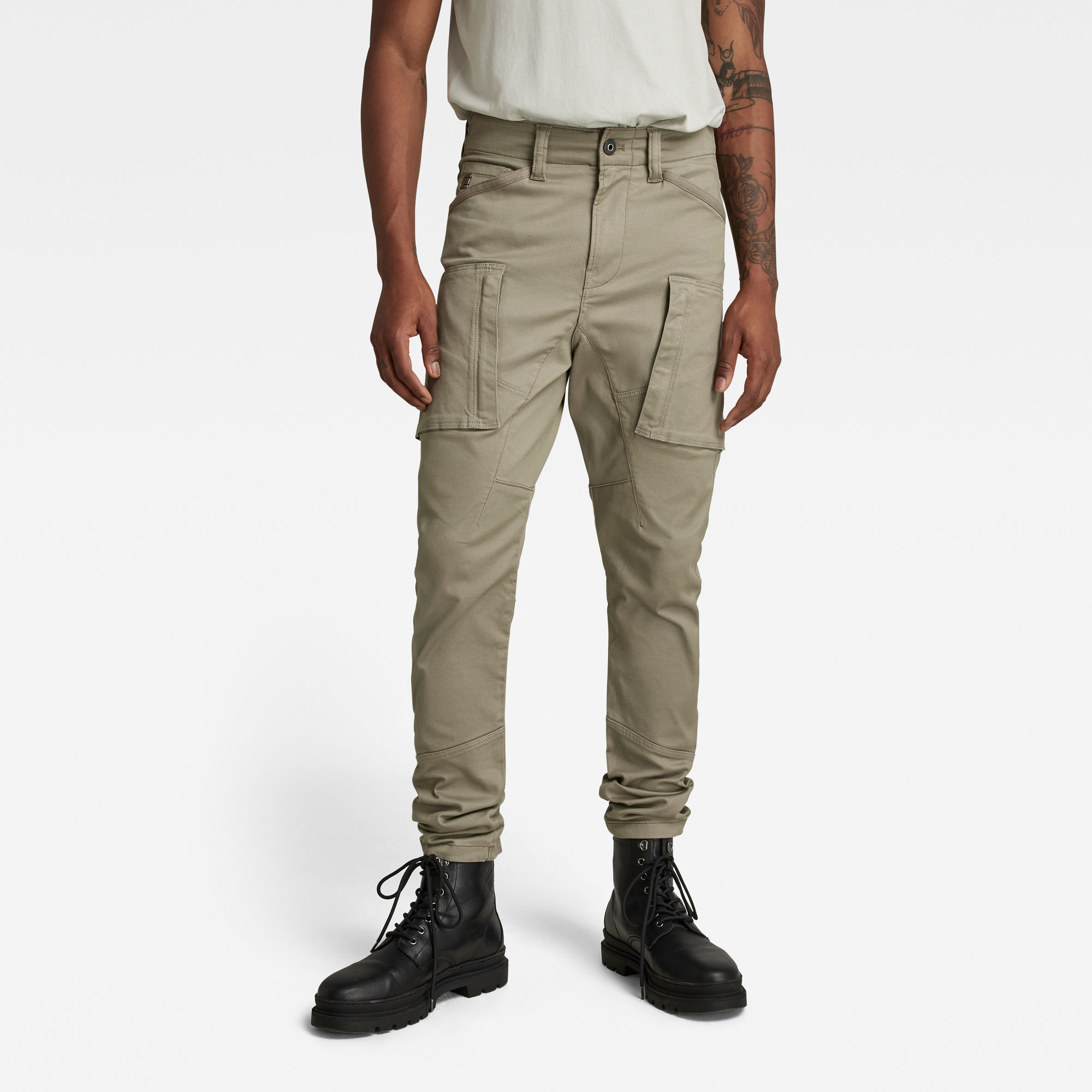 G-Star RAW Heren Cargo Broek Zip Pocket 3D Skinny Groen