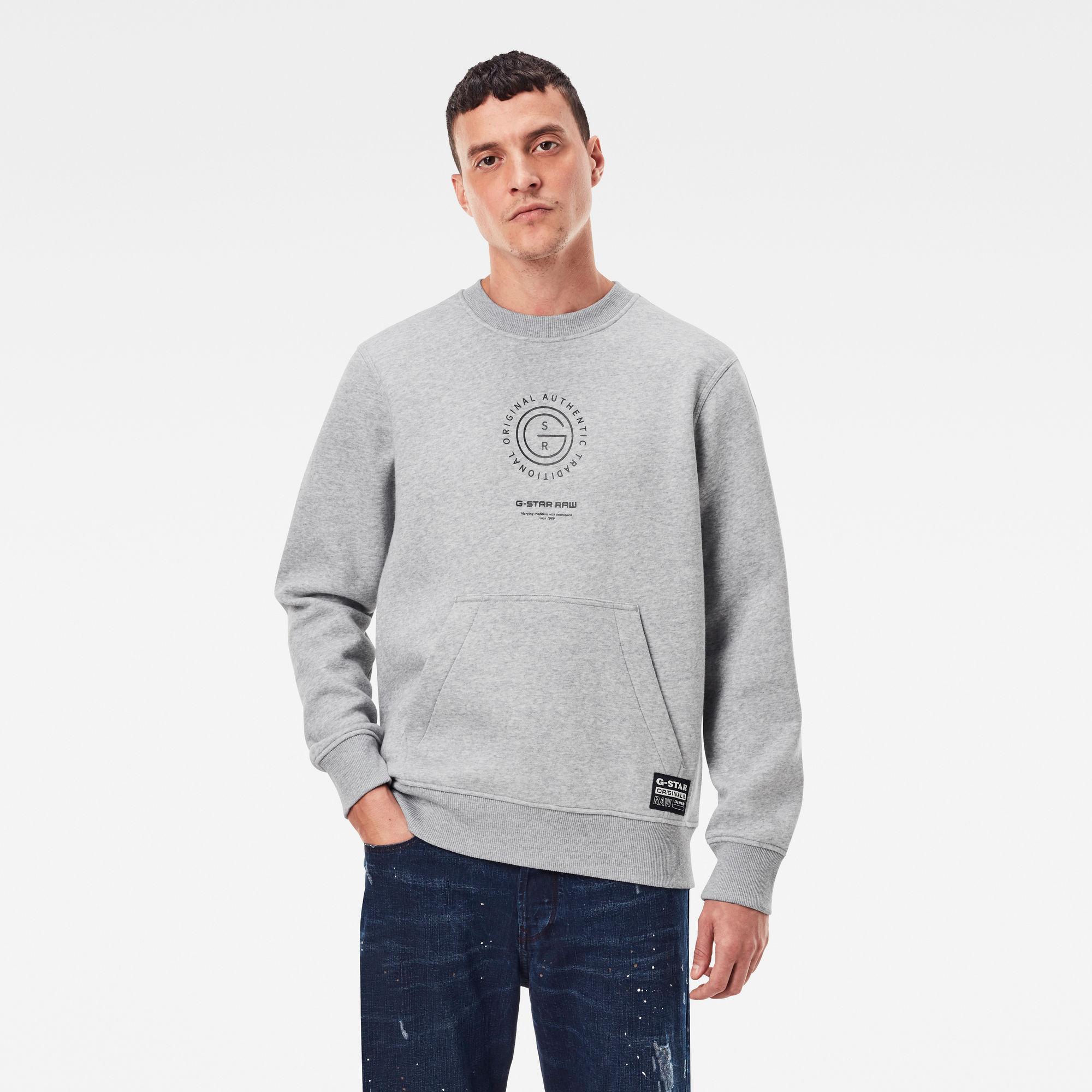 G-Star RAW Heren Multi Graphic Pocket Sweater Meerkleurig