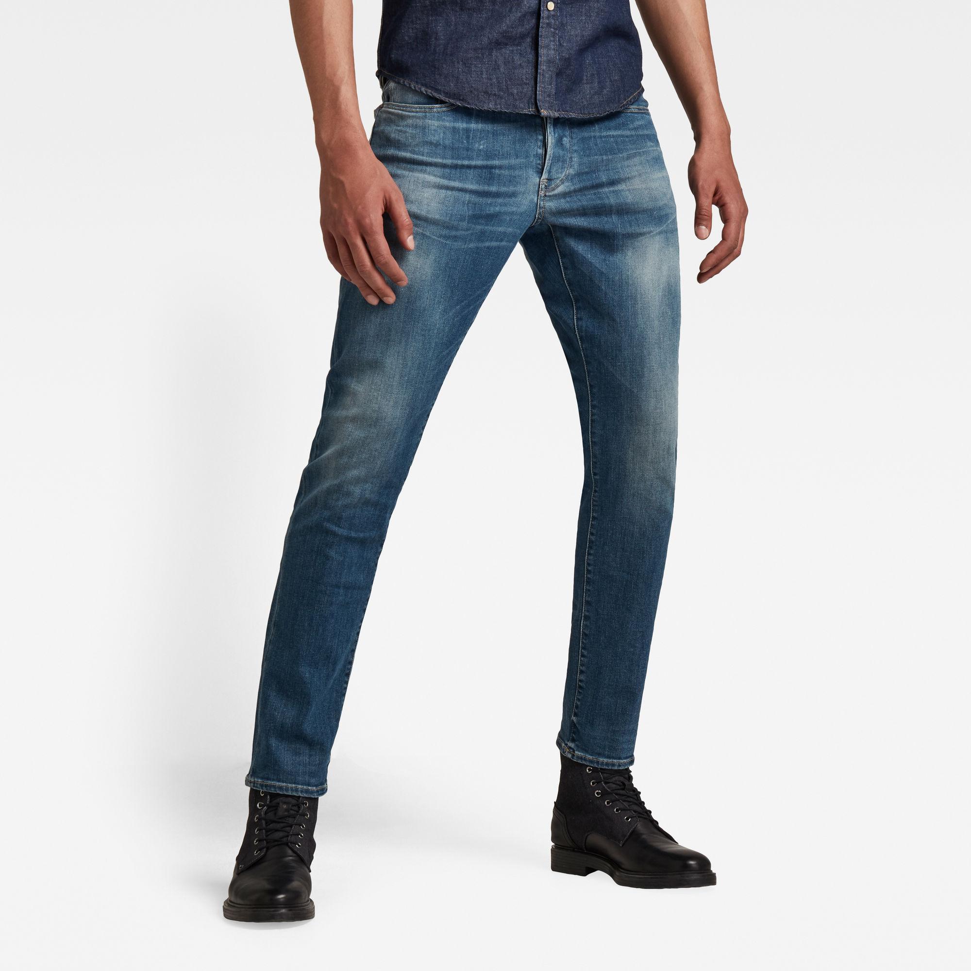 G-Star RAW Heren 3301 Straight Tapered Jeans Blauw