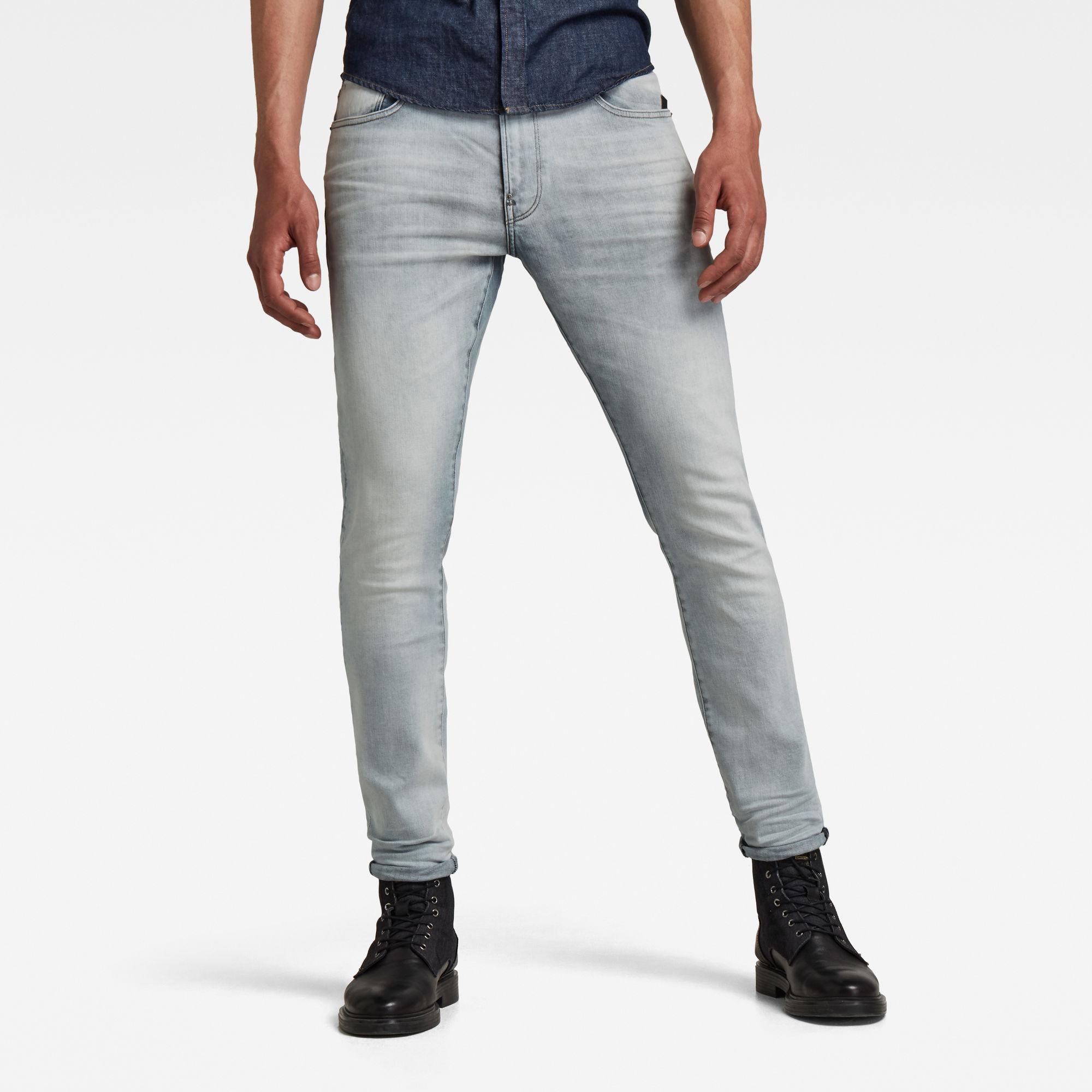 G-Star RAW Heren Revend Skinny Jeans Lichtblauw