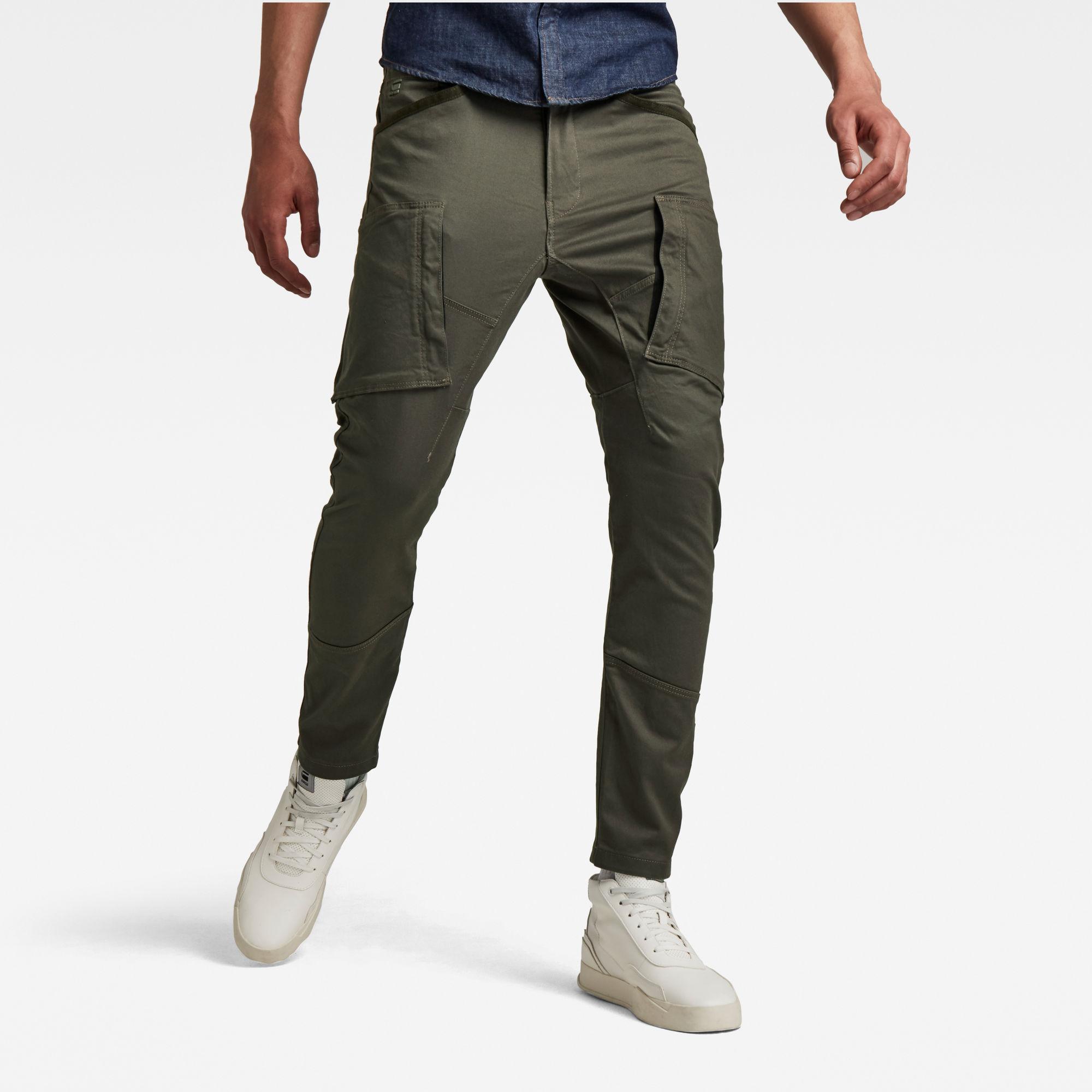 G-Star RAW Heren Cargo Broek Zip Pocket 3D Skinny Grijs