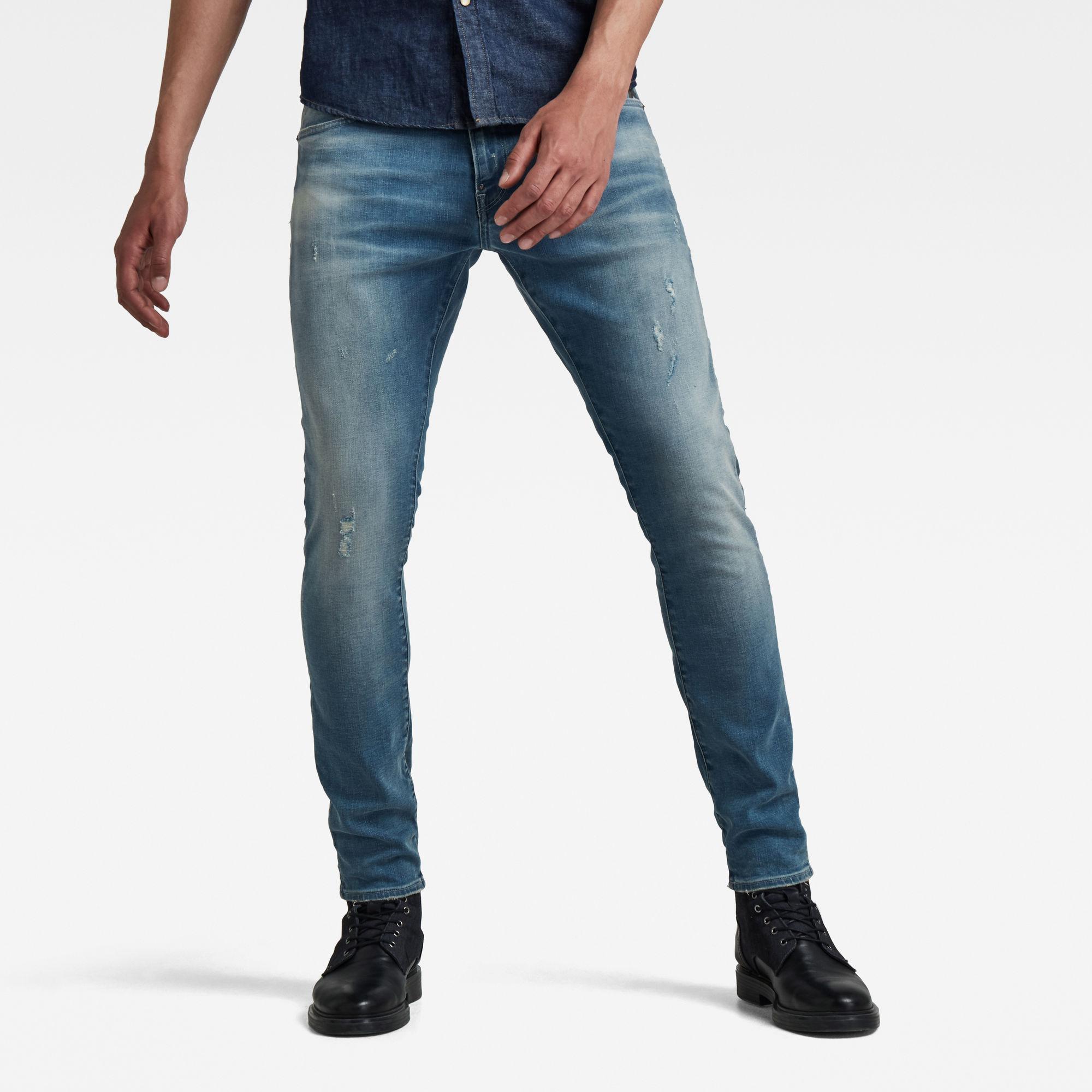 G-Star RAW Hombre Jeans Revend Skinny Azul intermedio