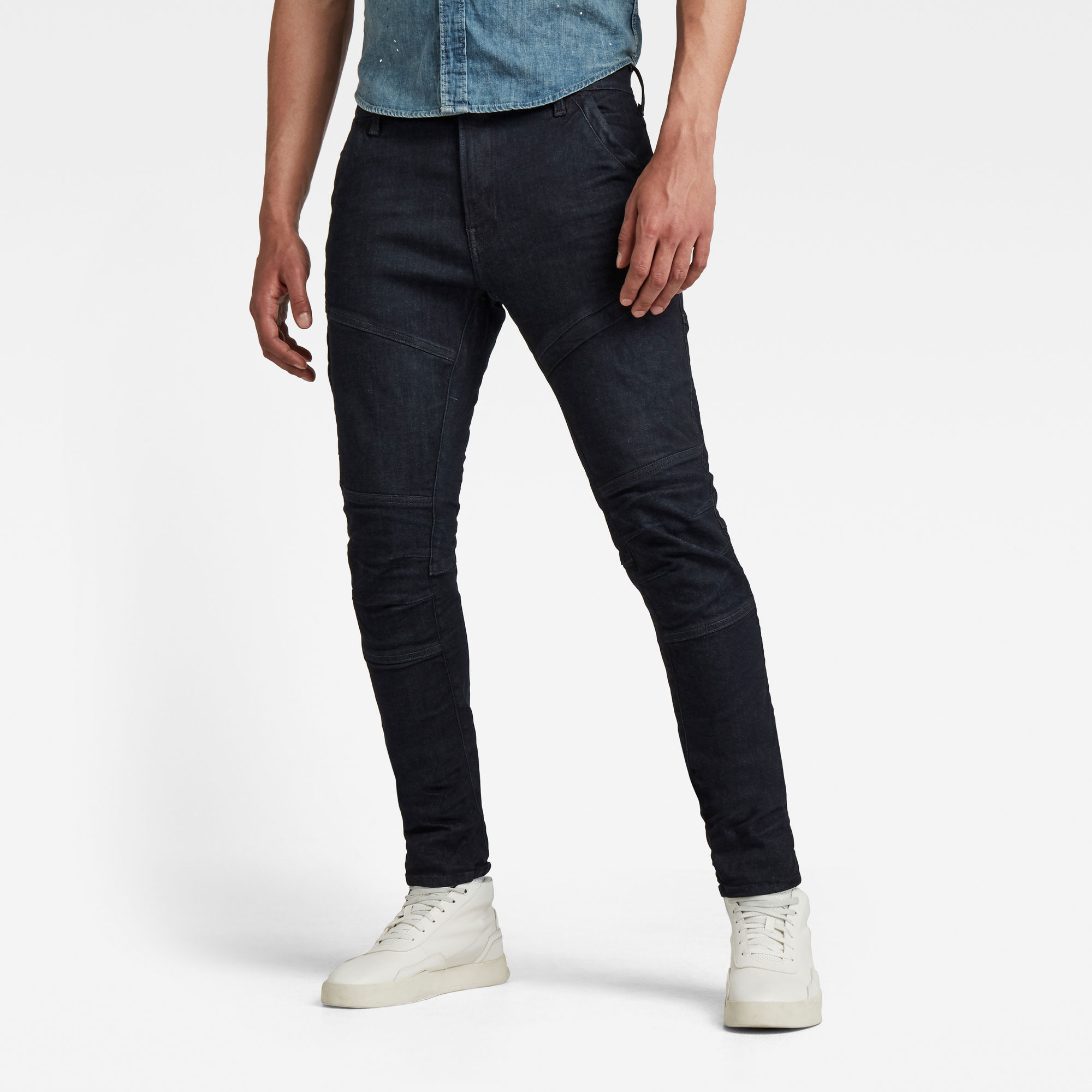 G-Star RAW Heren Rackam 3D Skinny Jeans Donkerblauw