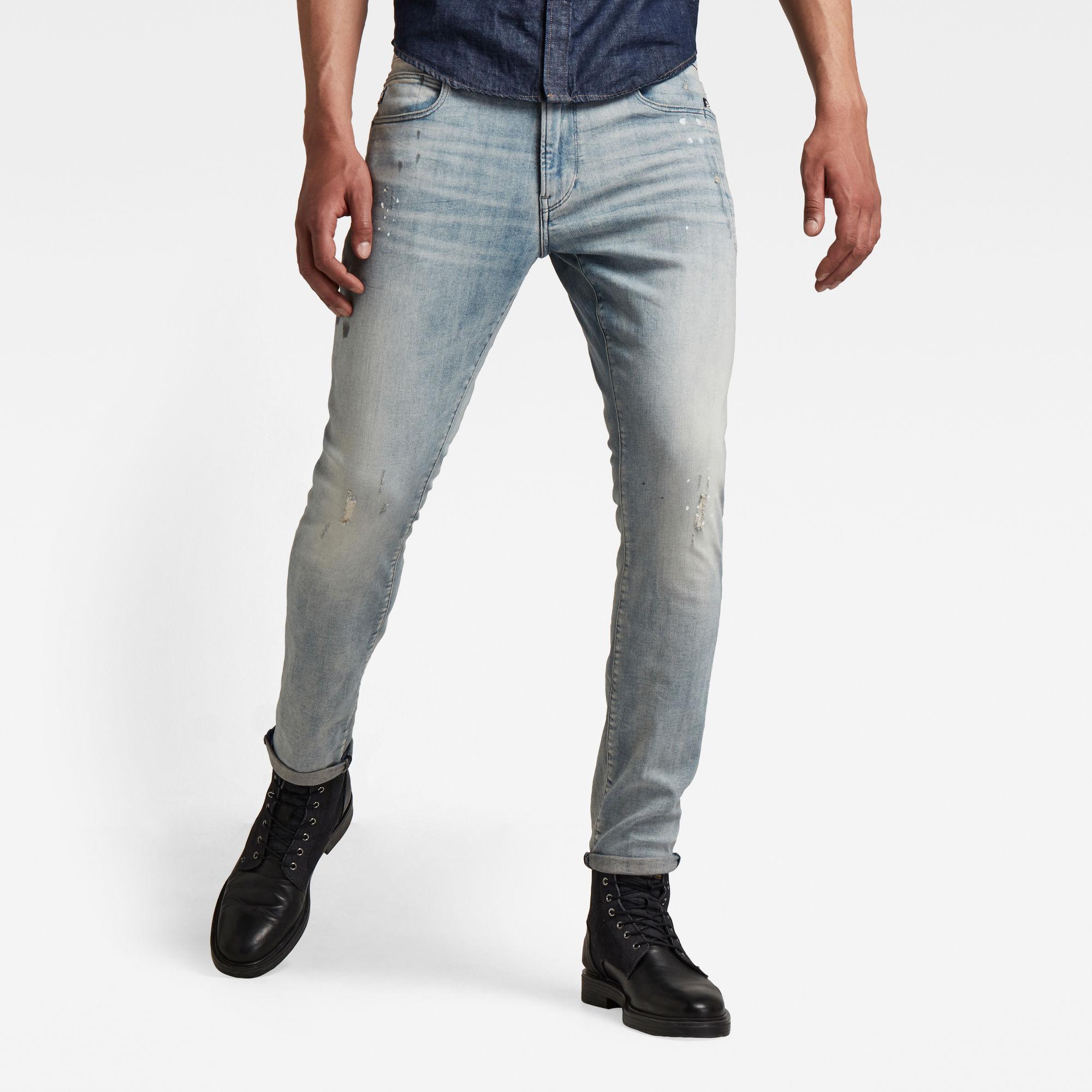 G-Star RAW Heren Lancet Skinny Jeans Lichtblauw