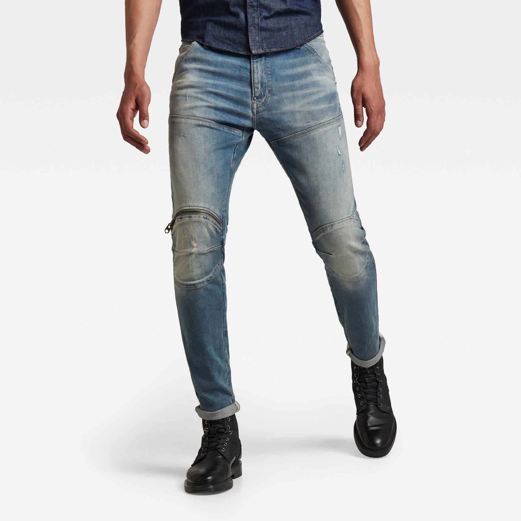 G-Star RAW Heren 5620 3D Zip Knee Skinny Jeans Blauw
