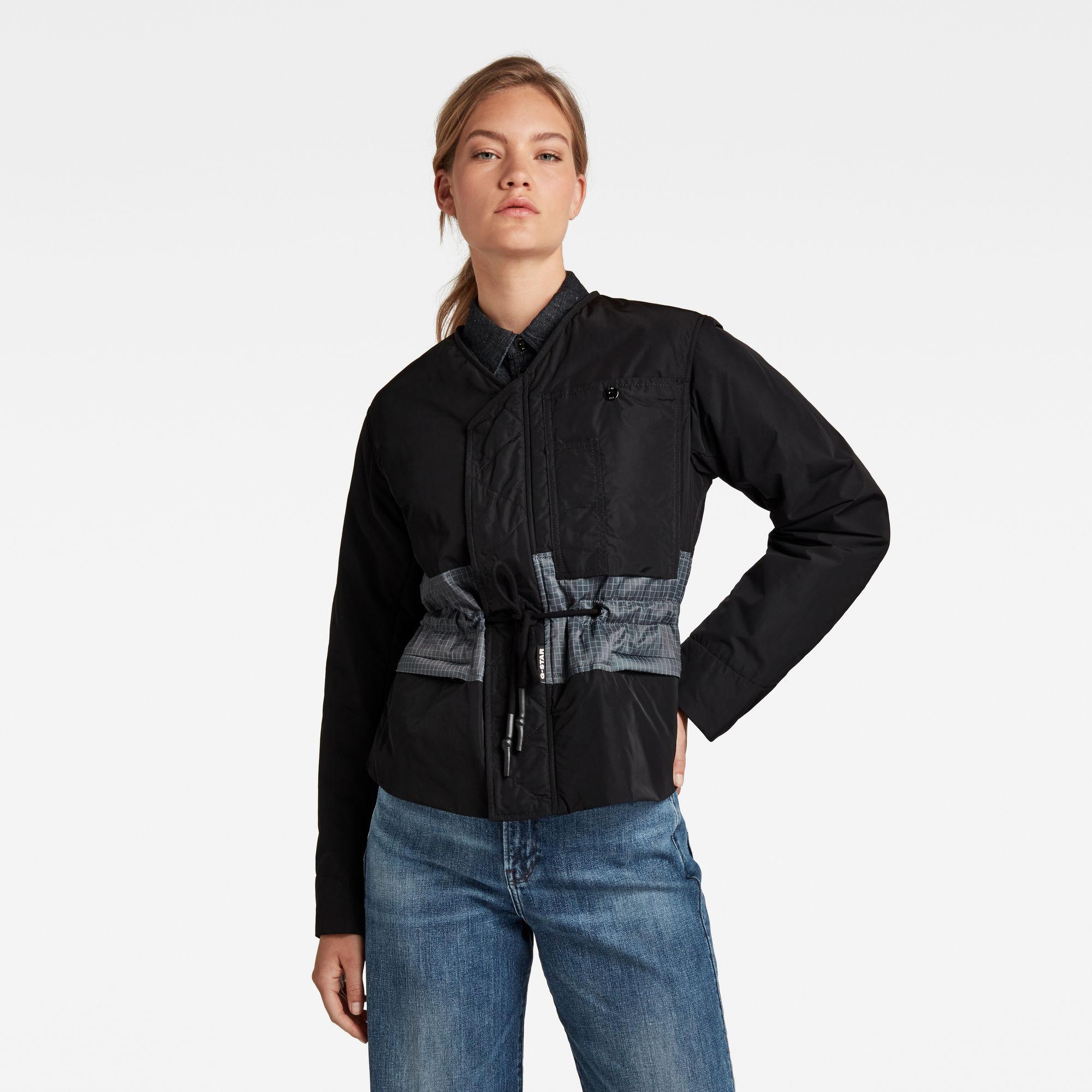 G-Star RAW Dames Jas Lightly Padded Multipocket Zwart