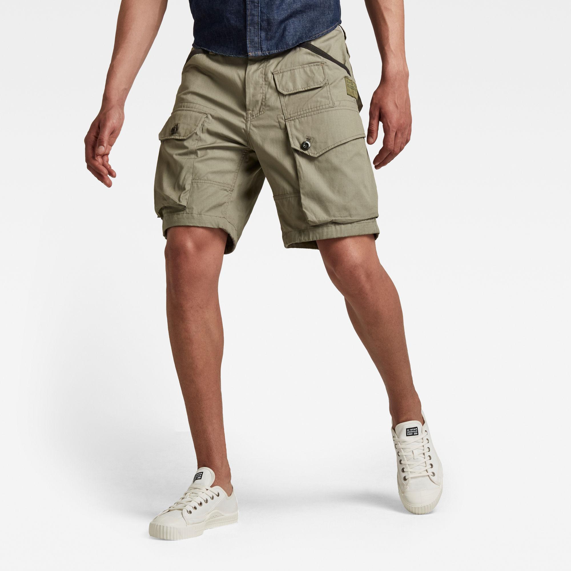 G-Star RAW Heren Jungle Cargo Short Groen