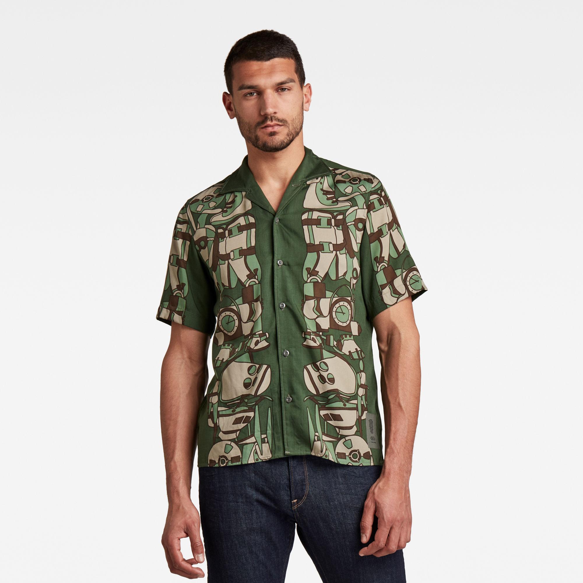 G-Star RAW Heren Hawaiian Service Regular Shirt Meerkleurig
