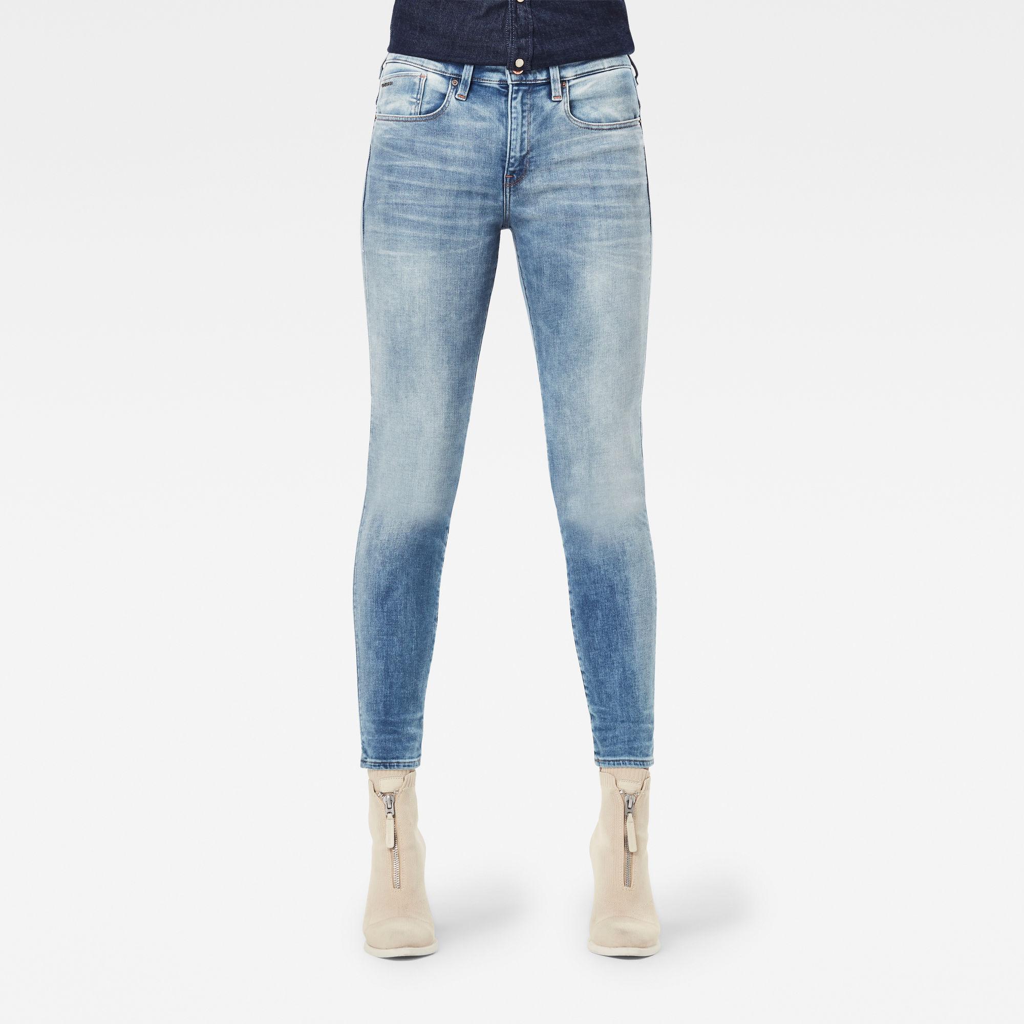 G-Star RAW Dames Lhana Skinny Jeans Lichtblauw