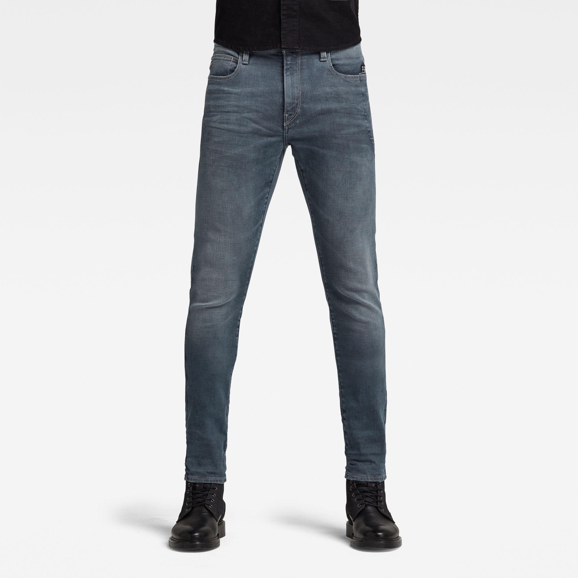 G-Star RAW Heren Lancet Skinny Jeans Donkerblauw