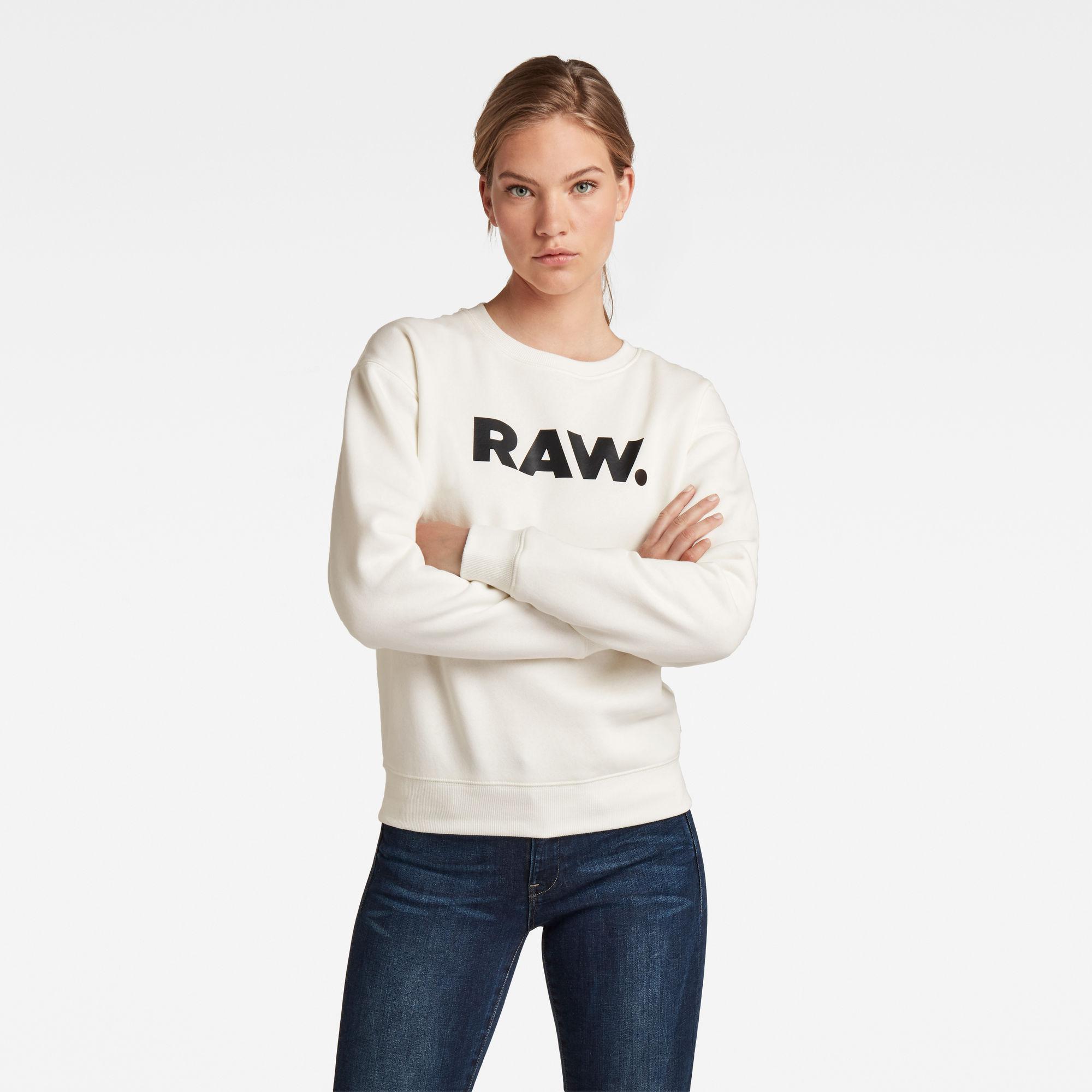G-Star RAW Dames Premium Core RAW. Sweater Wit