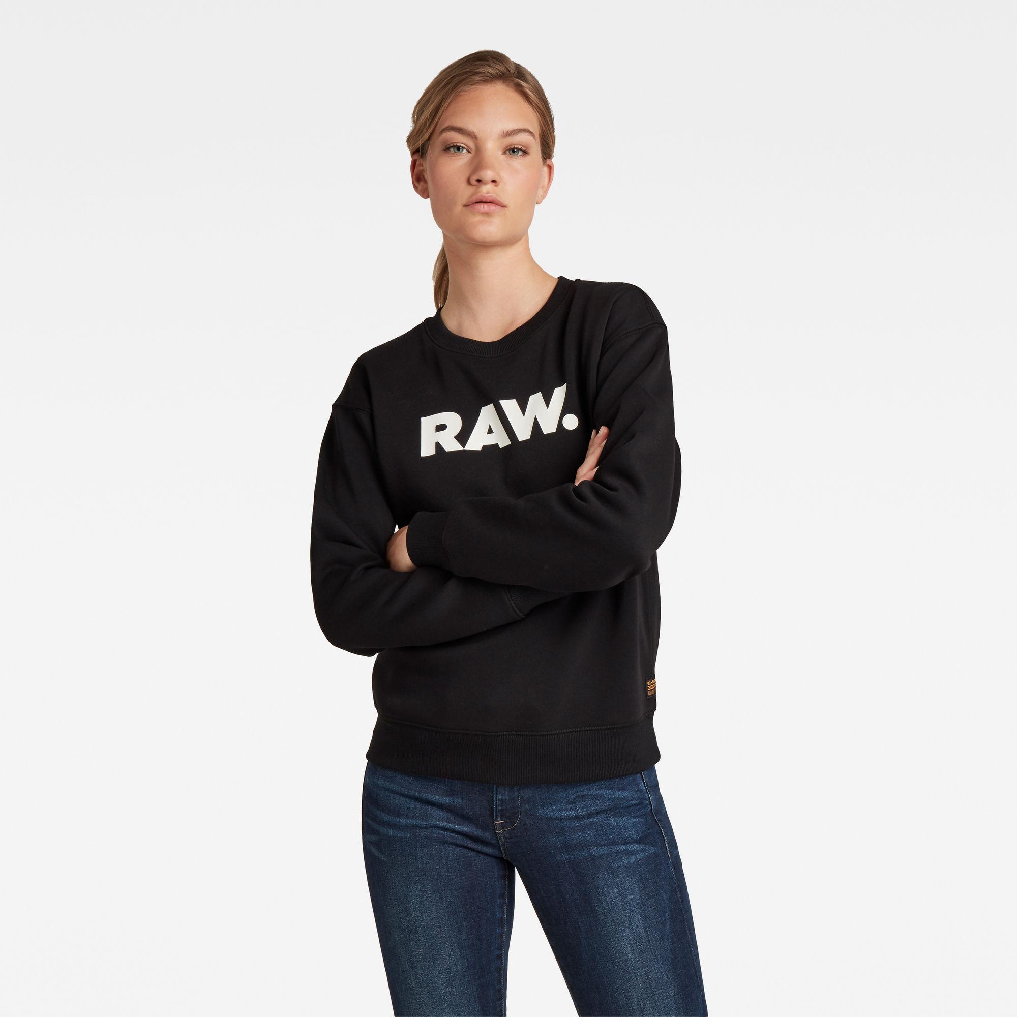 G-Star RAW Dames Premium Core RAW. Sweater Zwart