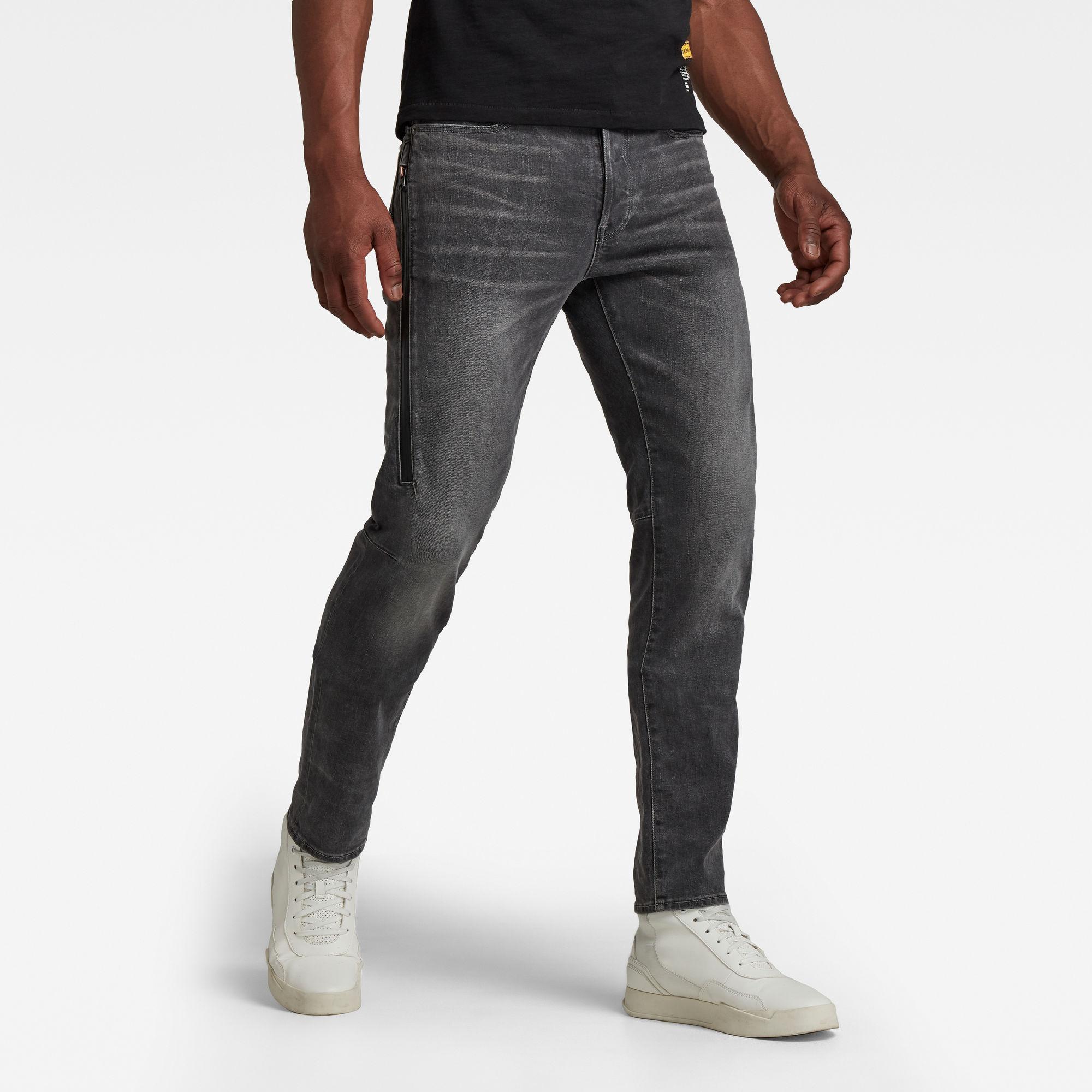 G-Star RAW Heren Citishield 3D Slim Tapered Jeans Grijs