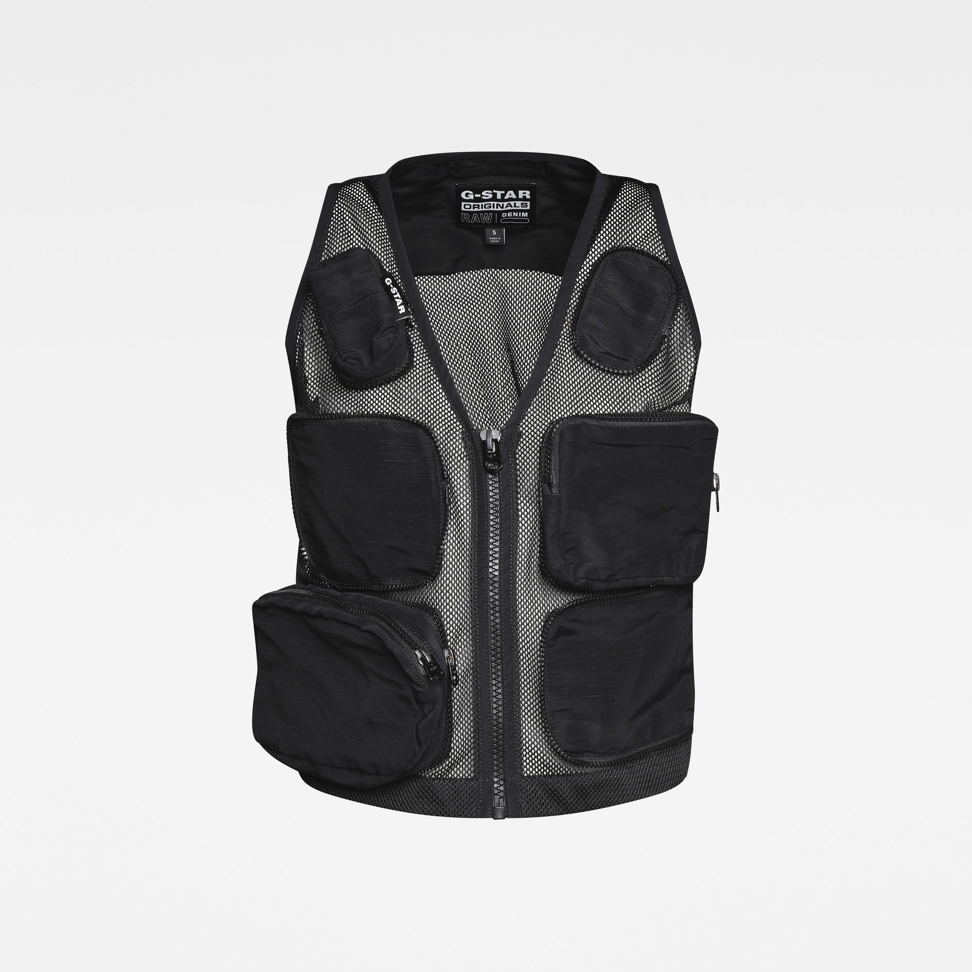G-Star RAW Dames E Mosquito Multi Pocket Vest Zwart
