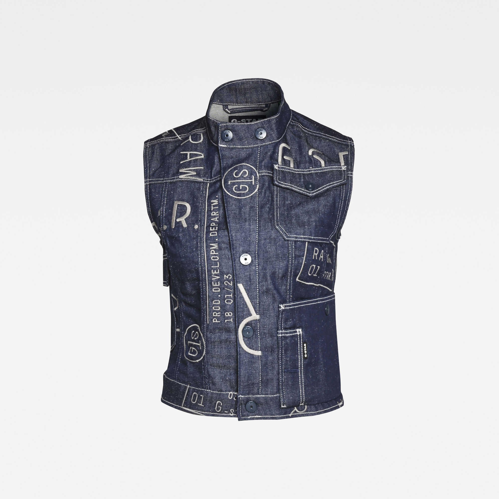 G-Star RAW Dames E Utility Sleeveless Jacket Donkerblauw