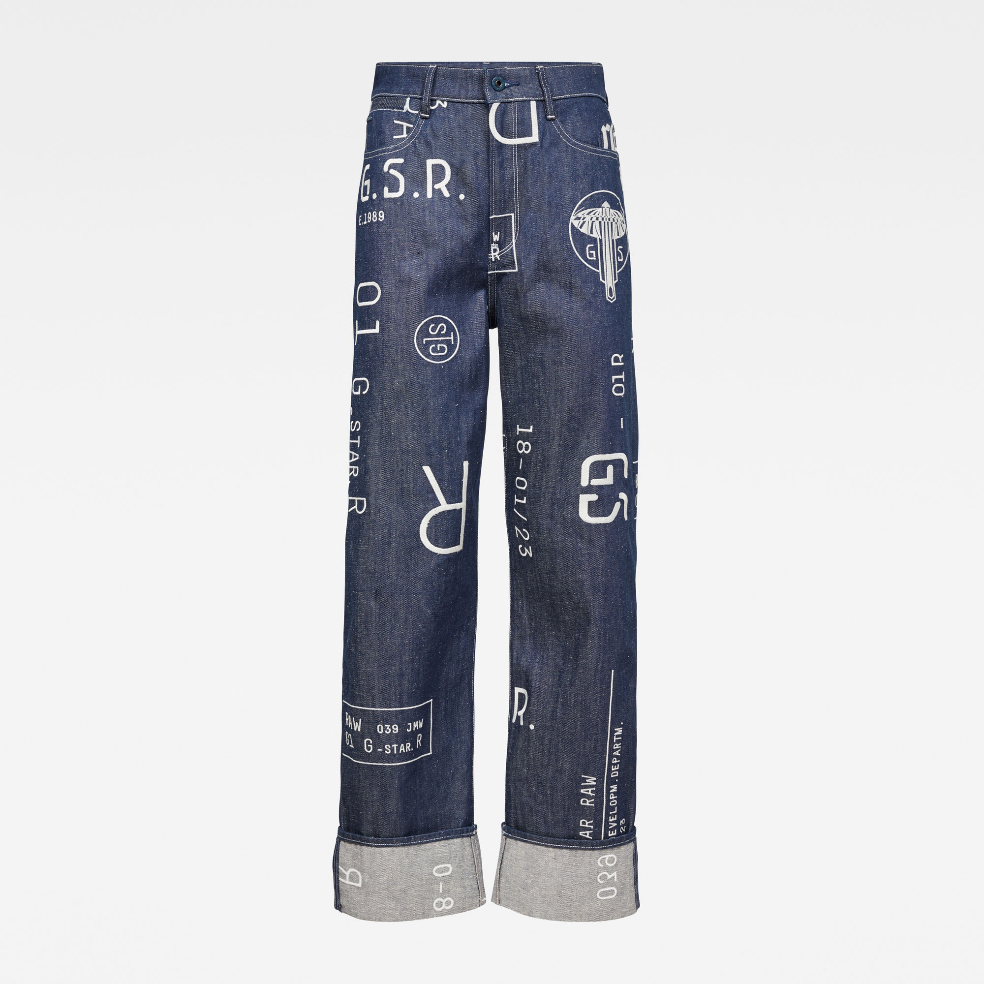 G-Star RAW Dames E Tedie Ultra High Straight Jeans Donkerblauw