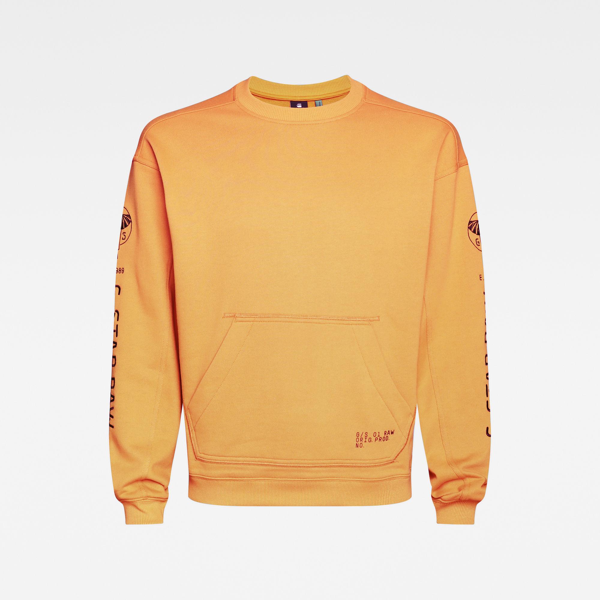 G-Star RAW Heren Sleeve Graphic Sweater Oranje