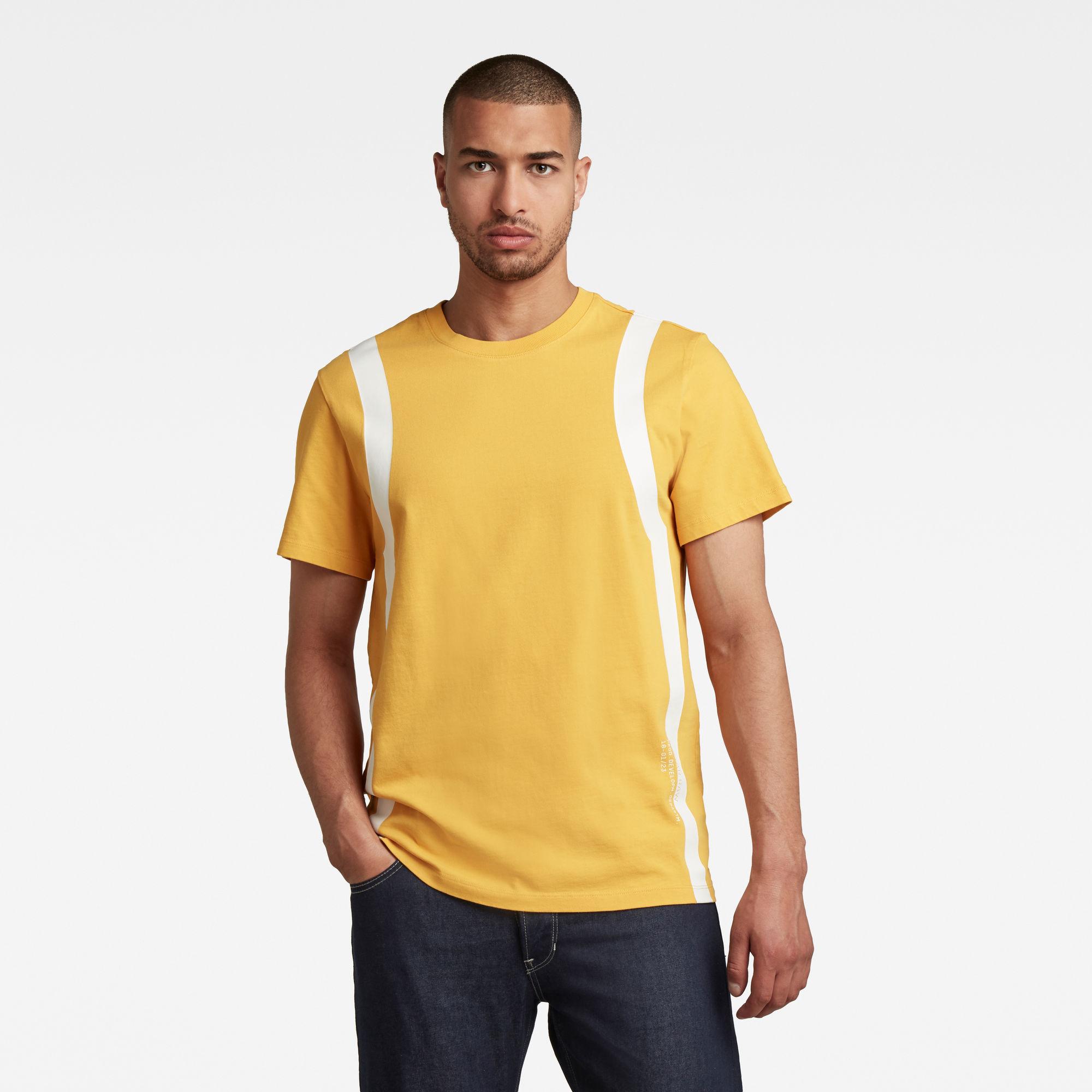G-Star RAW Heren Sport Insert T-Shirt Geel