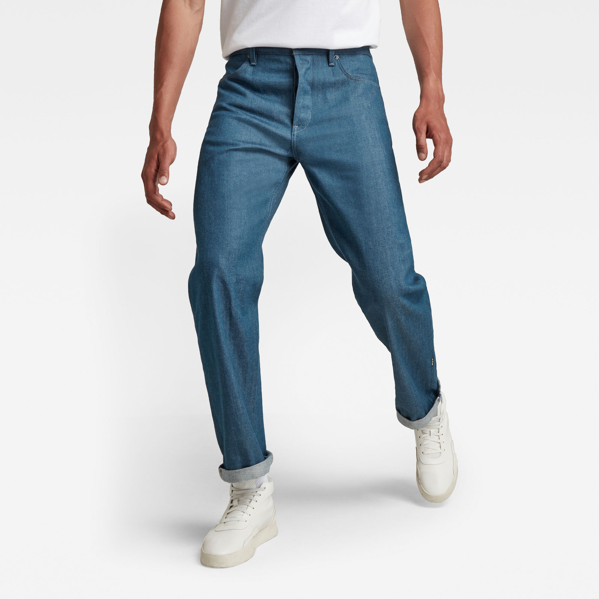 G-Star RAW Heren GSRR Type 49 Relaxed Straight Jeans Donkerblauw