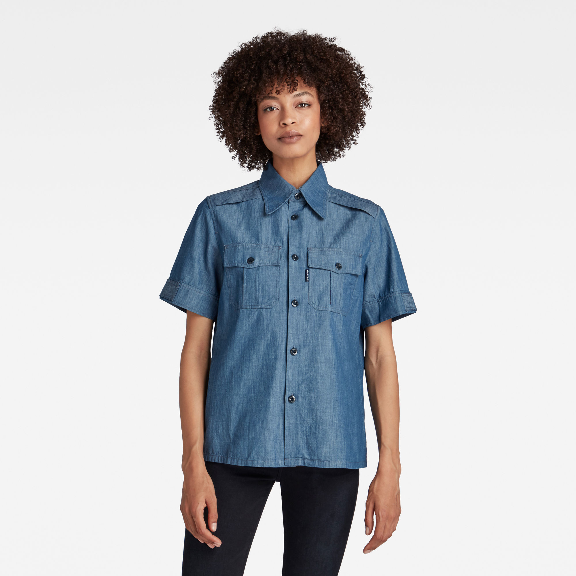 G-Star RAW Dames Officer Shirt Donkerblauw
