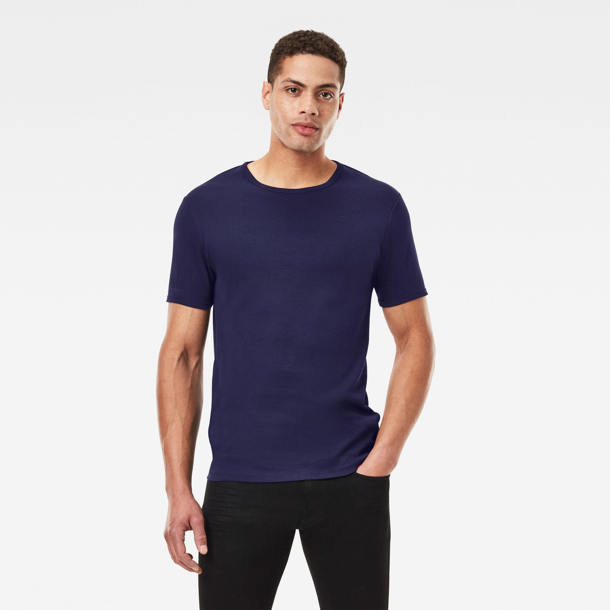 G-Star RAW Heren Base T-Shirt 2-Pack Donkerblauw