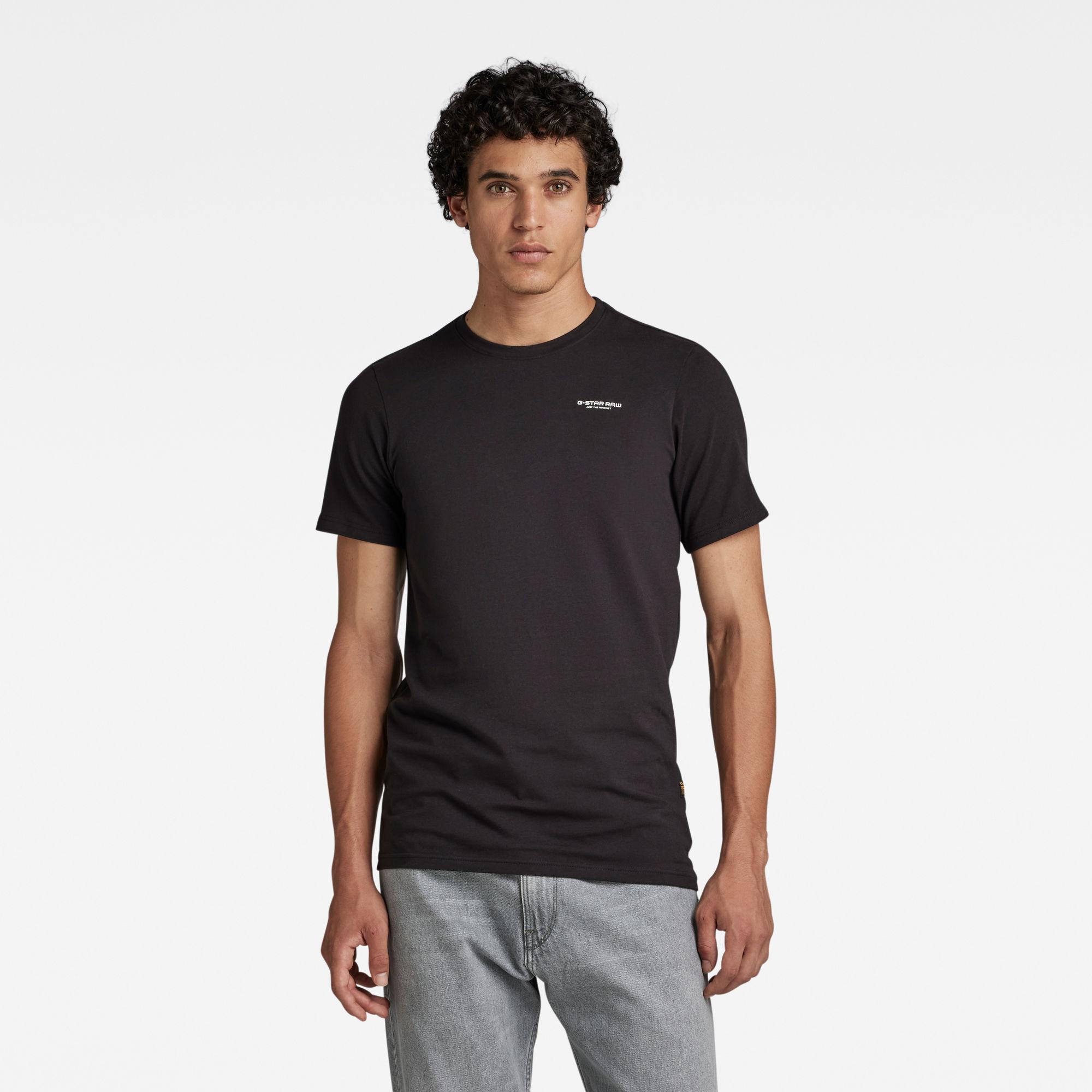 G-Star RAW Heren Slim Base T-Shirt Zwart