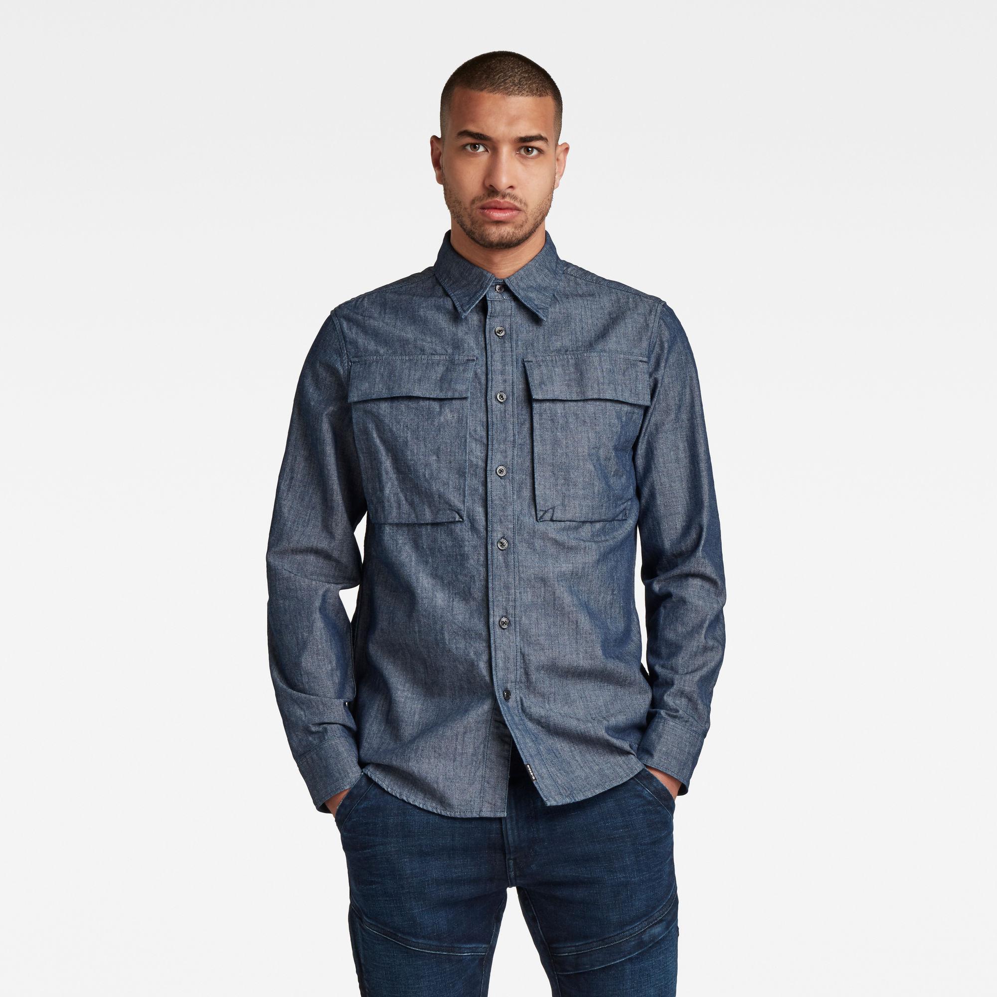 G-Star RAW Heren Navy Seal Regular Shirt Donkerblauw