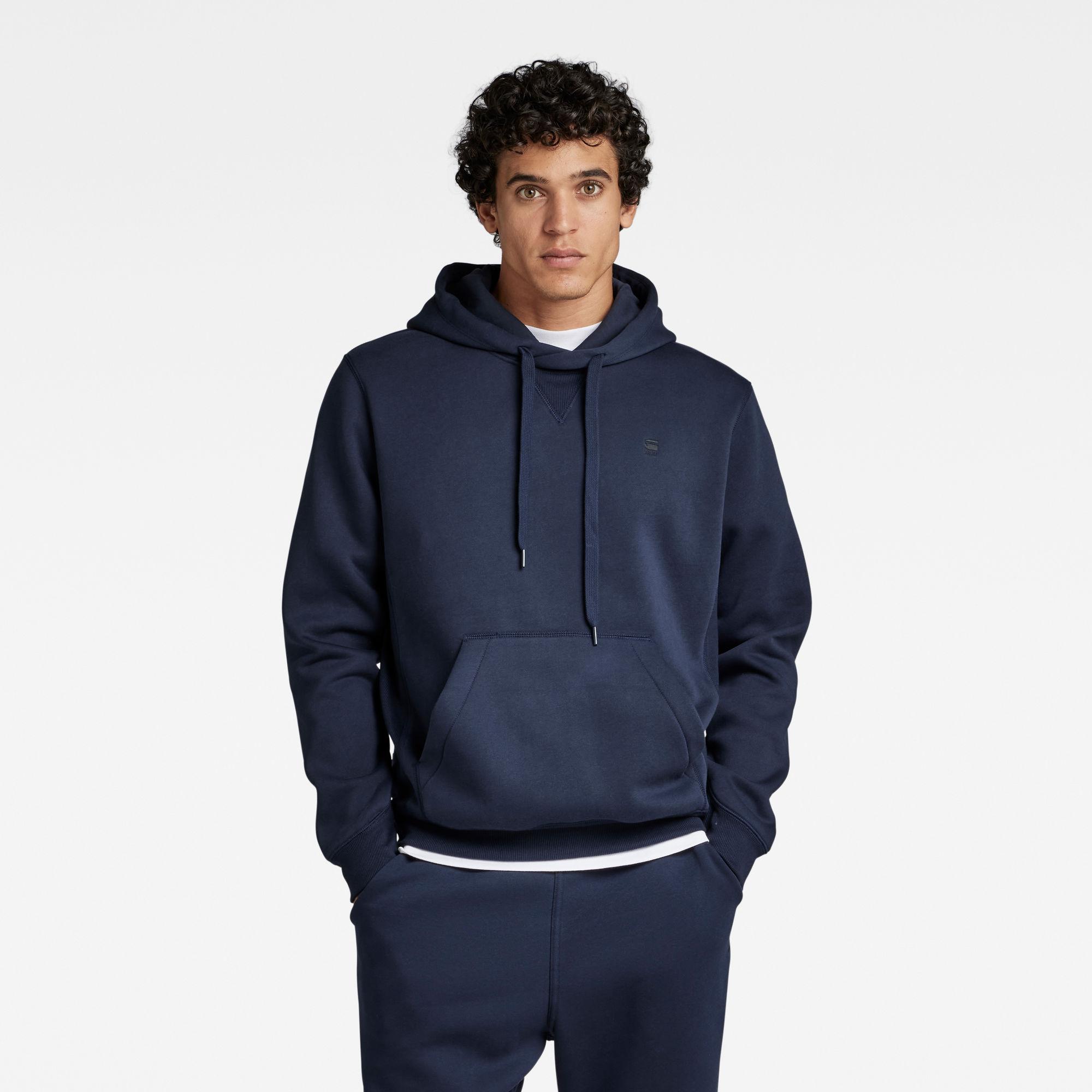 G-Star RAW Heren Premium Core Hooded Sweater Donkerblauw