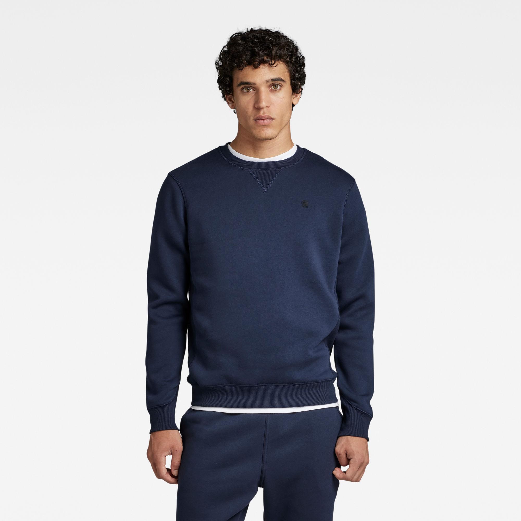 G-Star RAW Heren Premium Core Sweater Donkerblauw