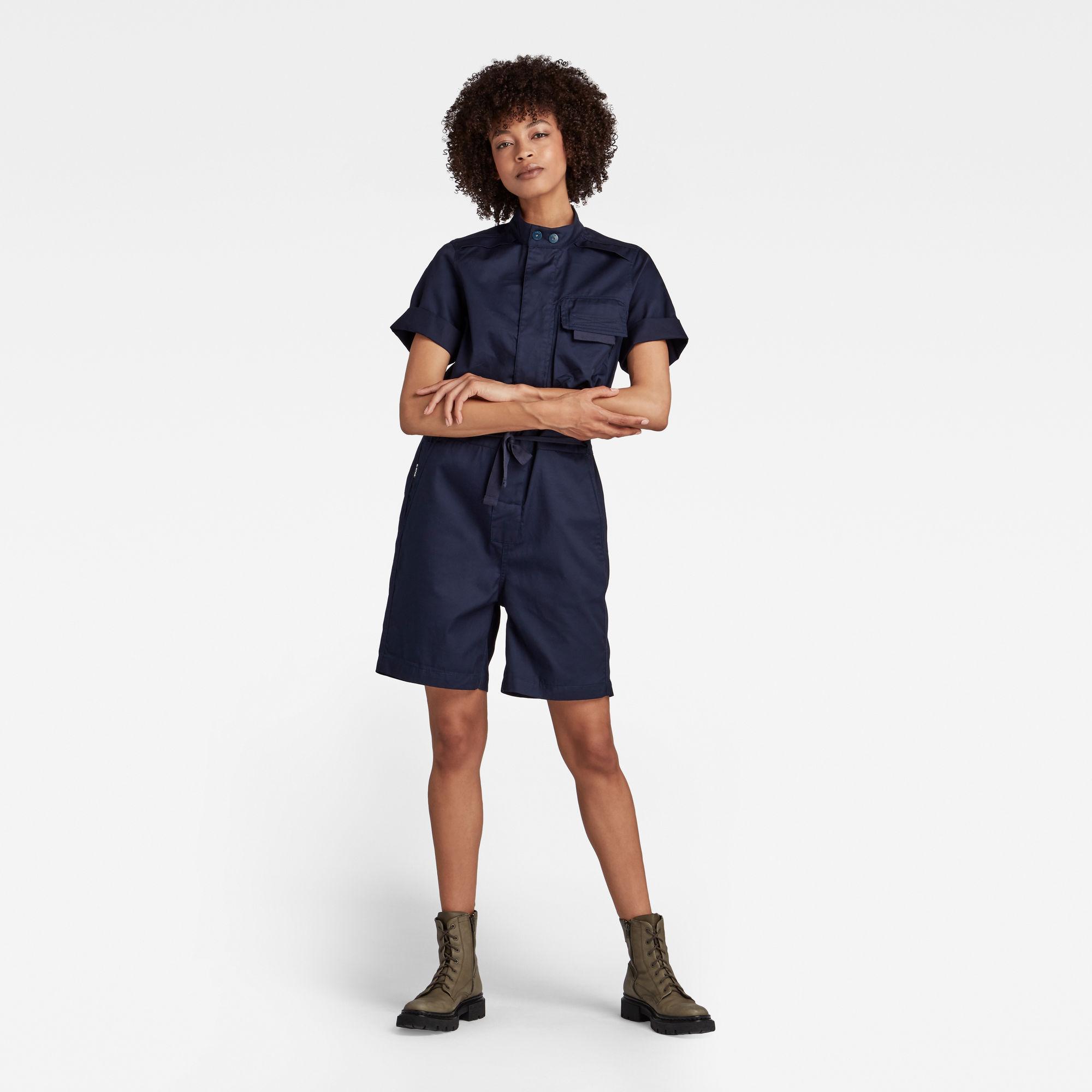 G-Star RAW Dames Workwear Jumpsuit Donkerblauw