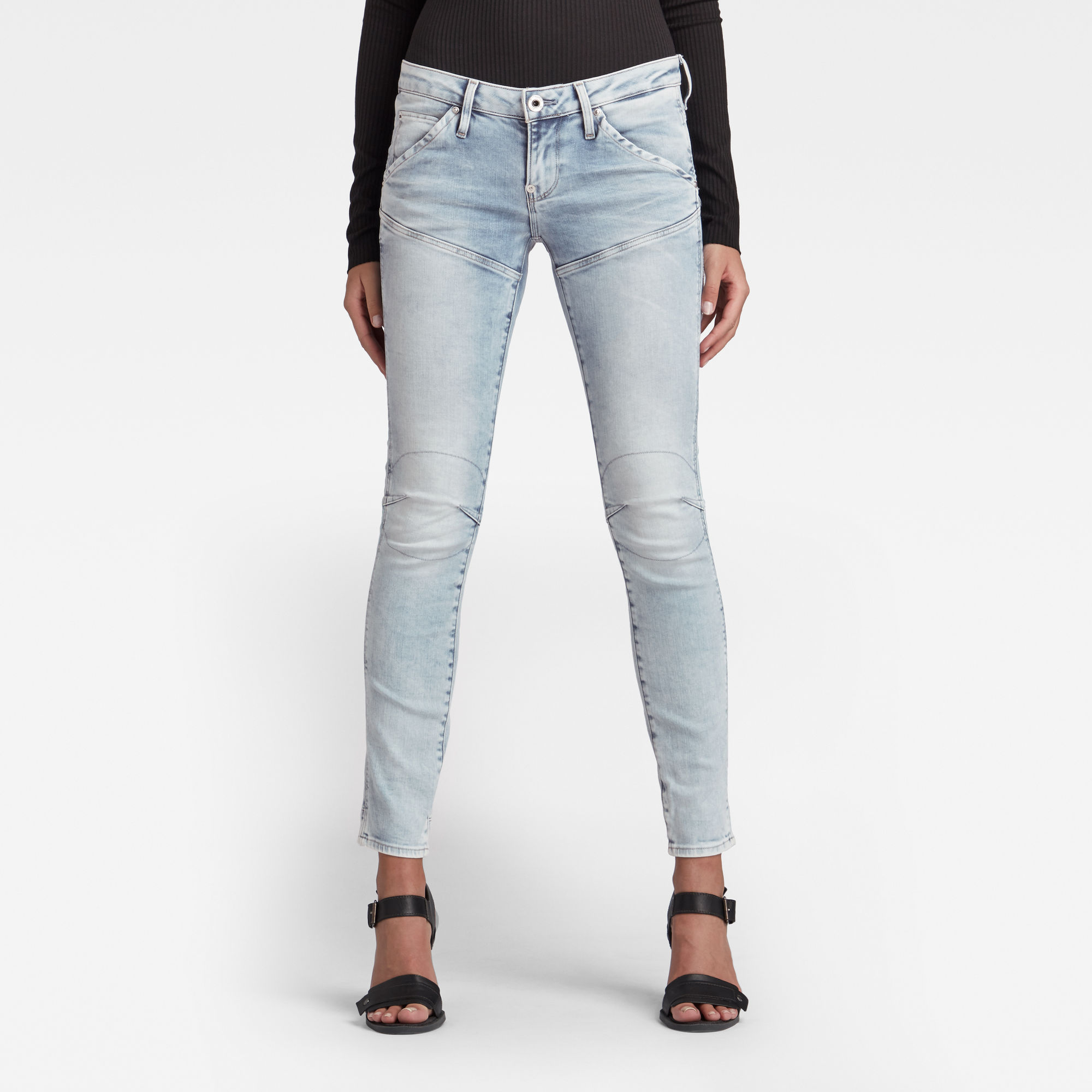 G-Star RAW Dames 5620 Heritage Embro Tapered Jeans Blauw