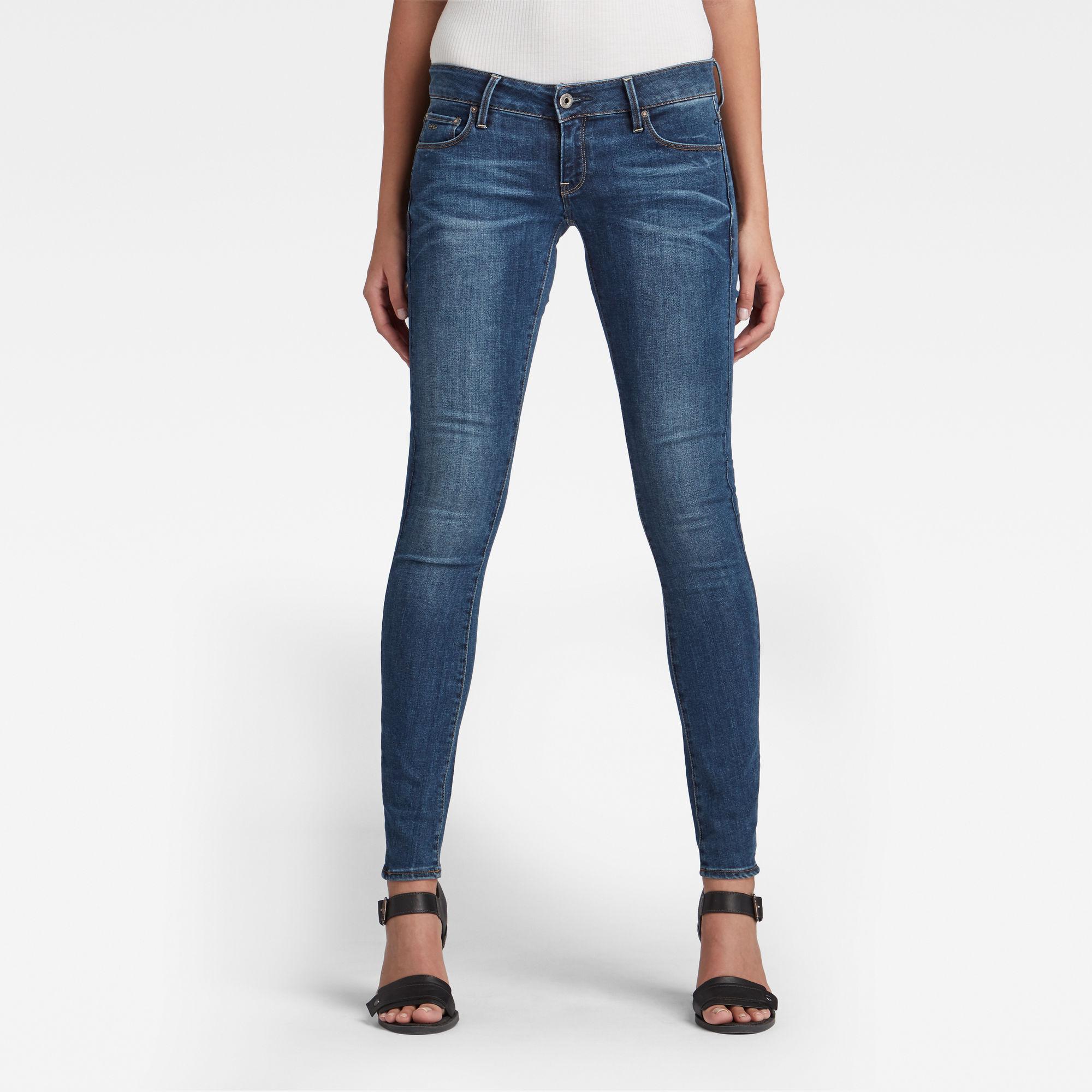 G-Star RAW Dames 3301 Low Skinny Jeans Blauw
