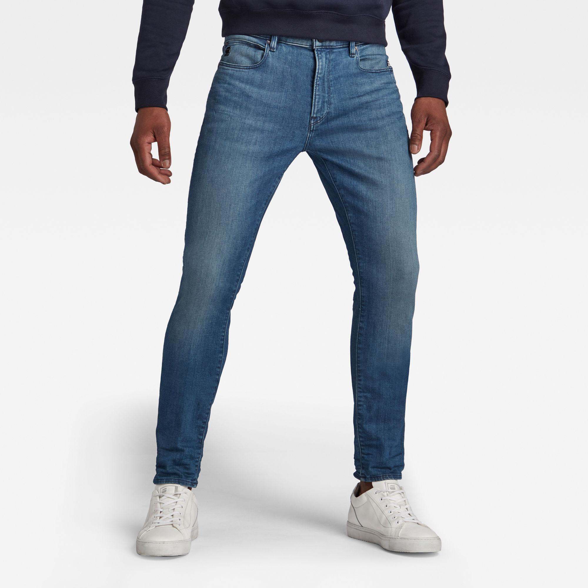 G-Star RAW Heren Lancet Skinny Jeans Blauw