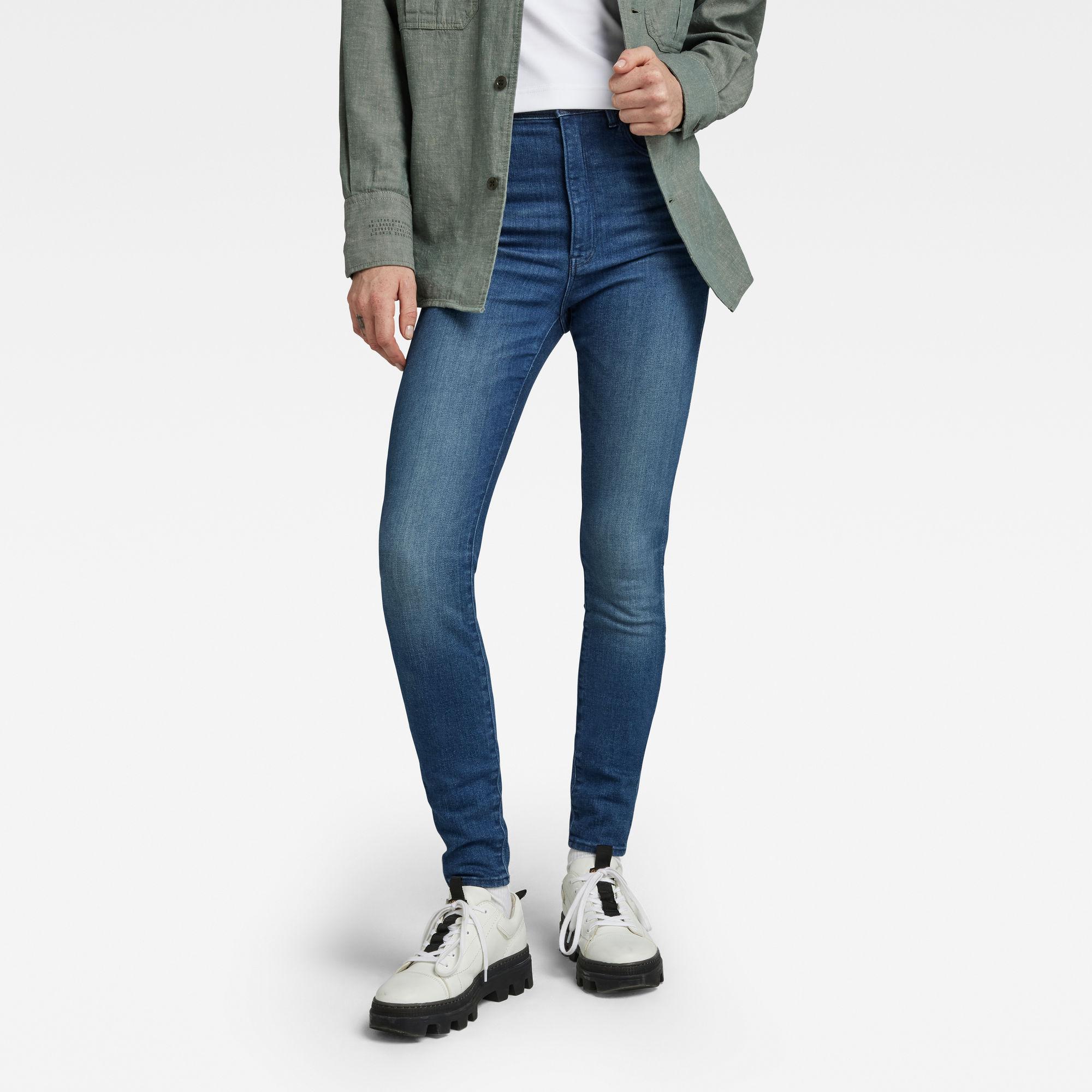 G-Star RAW Dames Kafey Skinny Jeans Blauw