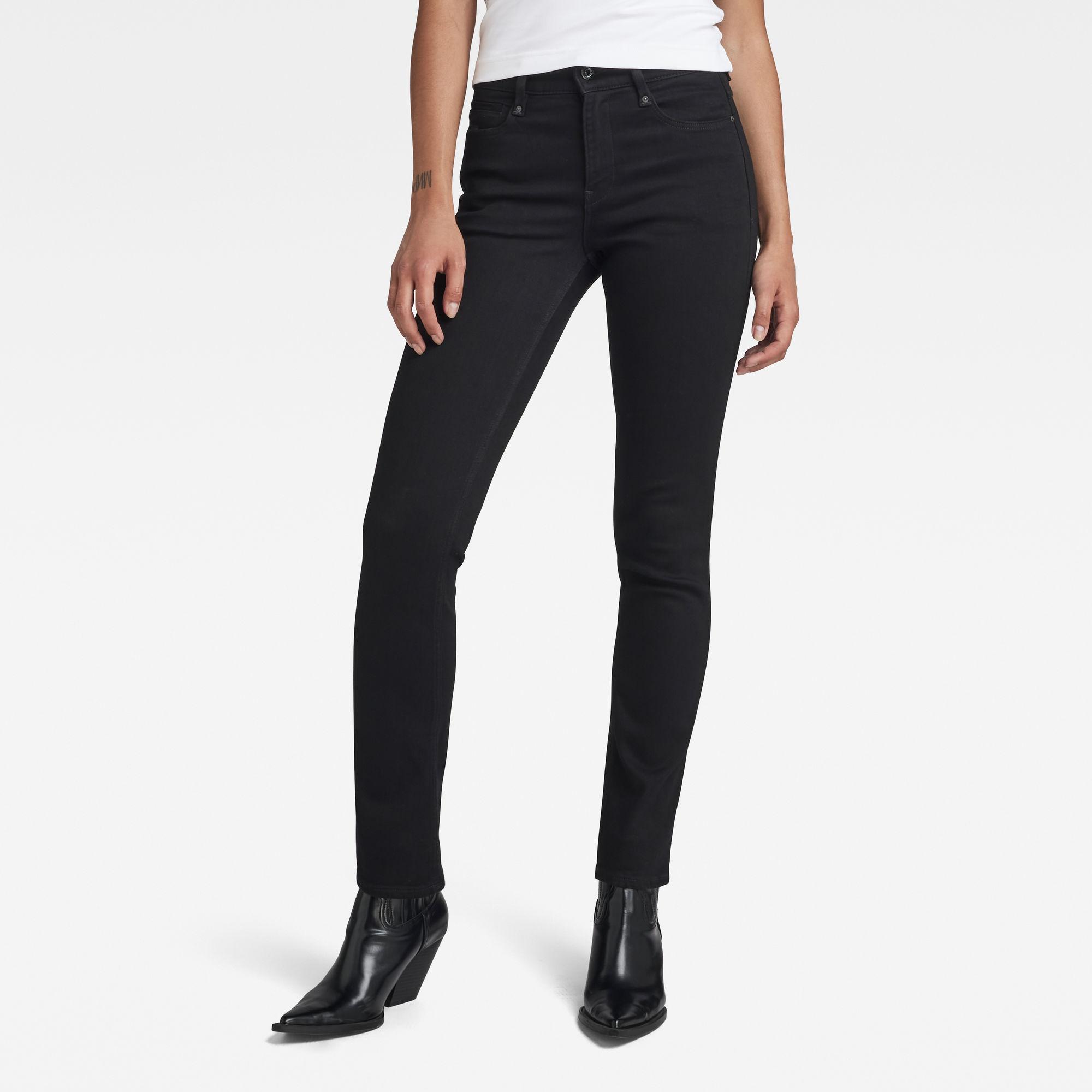G-Star RAW Dames Noxer Straight Jeans Zwart
