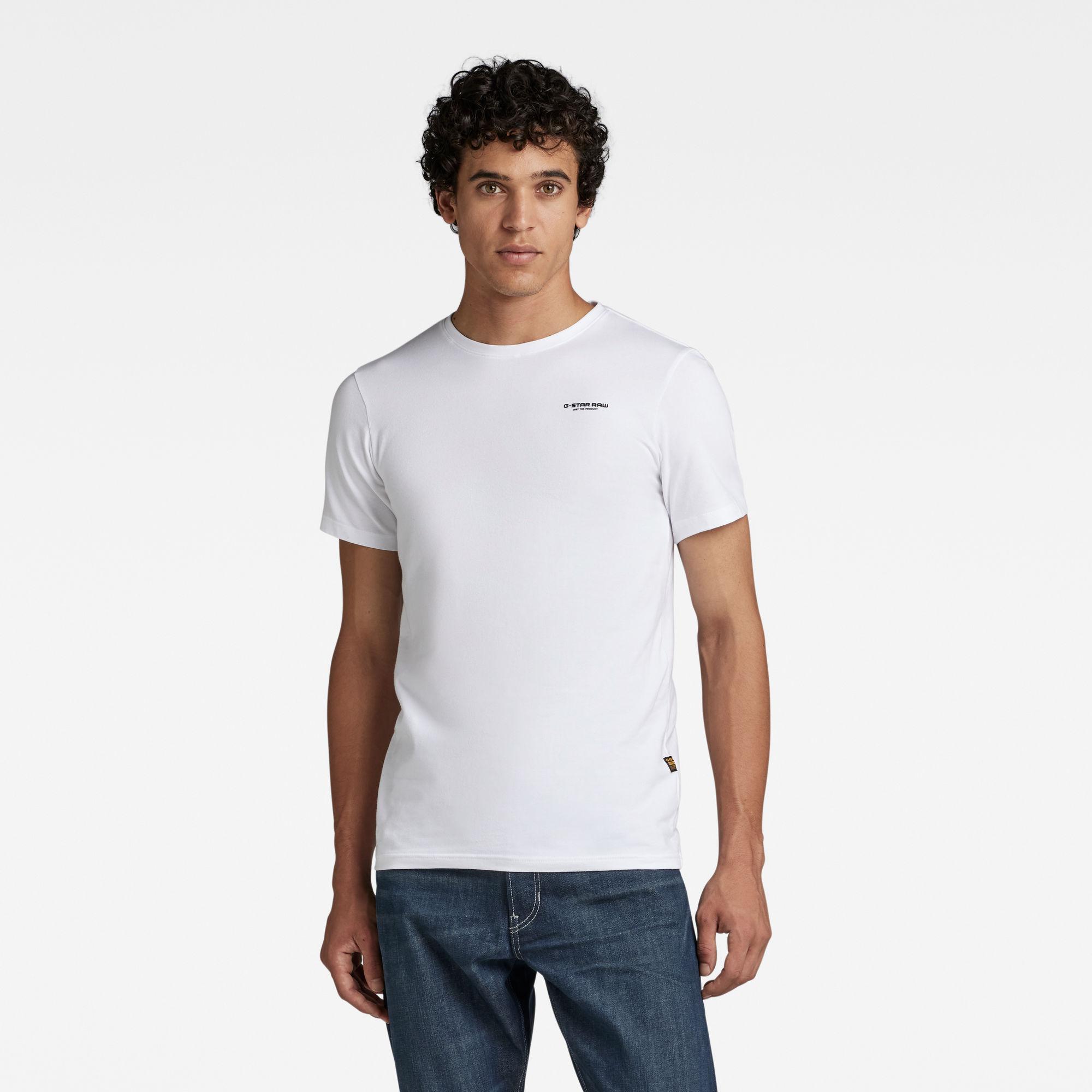 G-Star RAW Heren Slim Base T-Shirt Wit