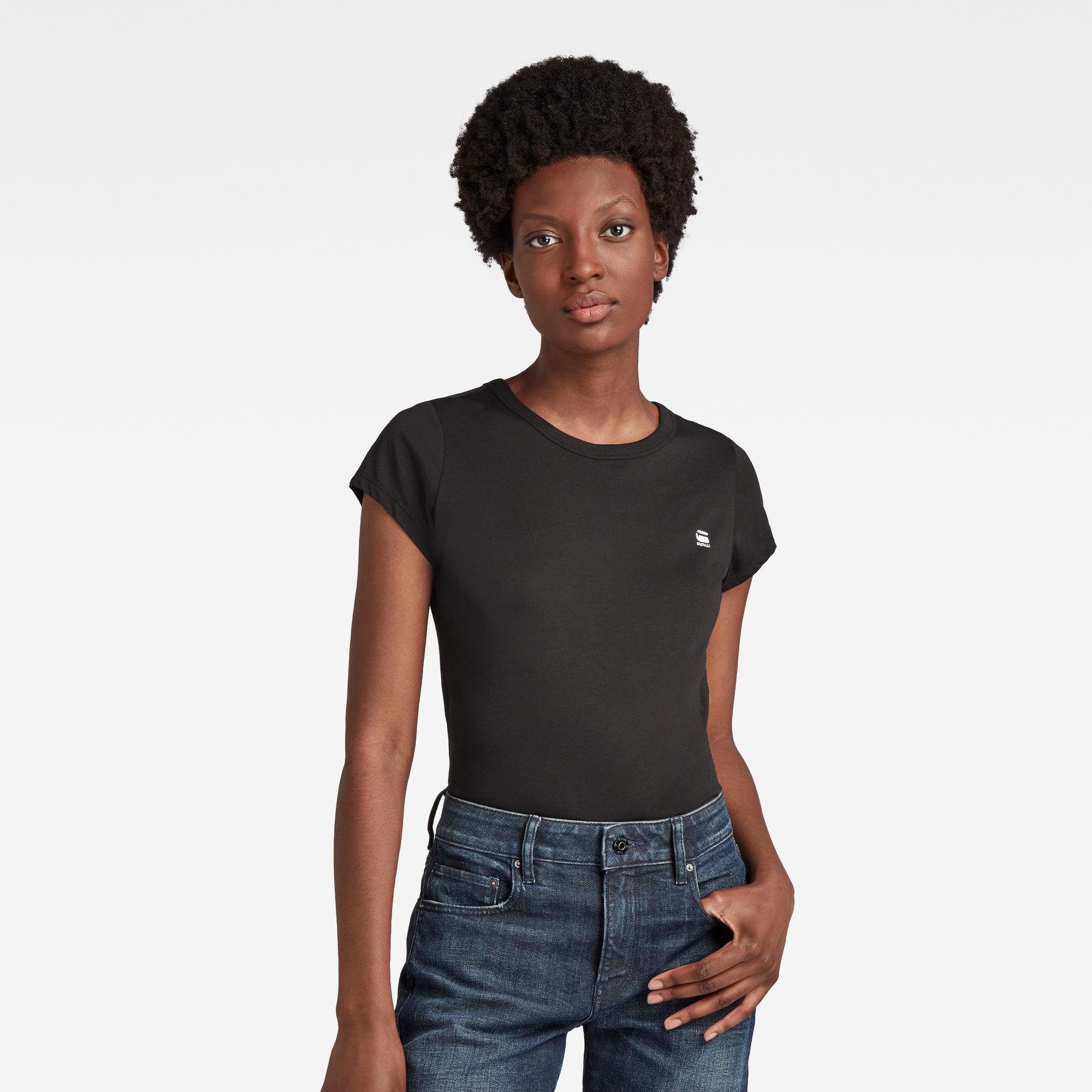 G-Star RAW Dames Eyben Slim T-Shirt Zwart