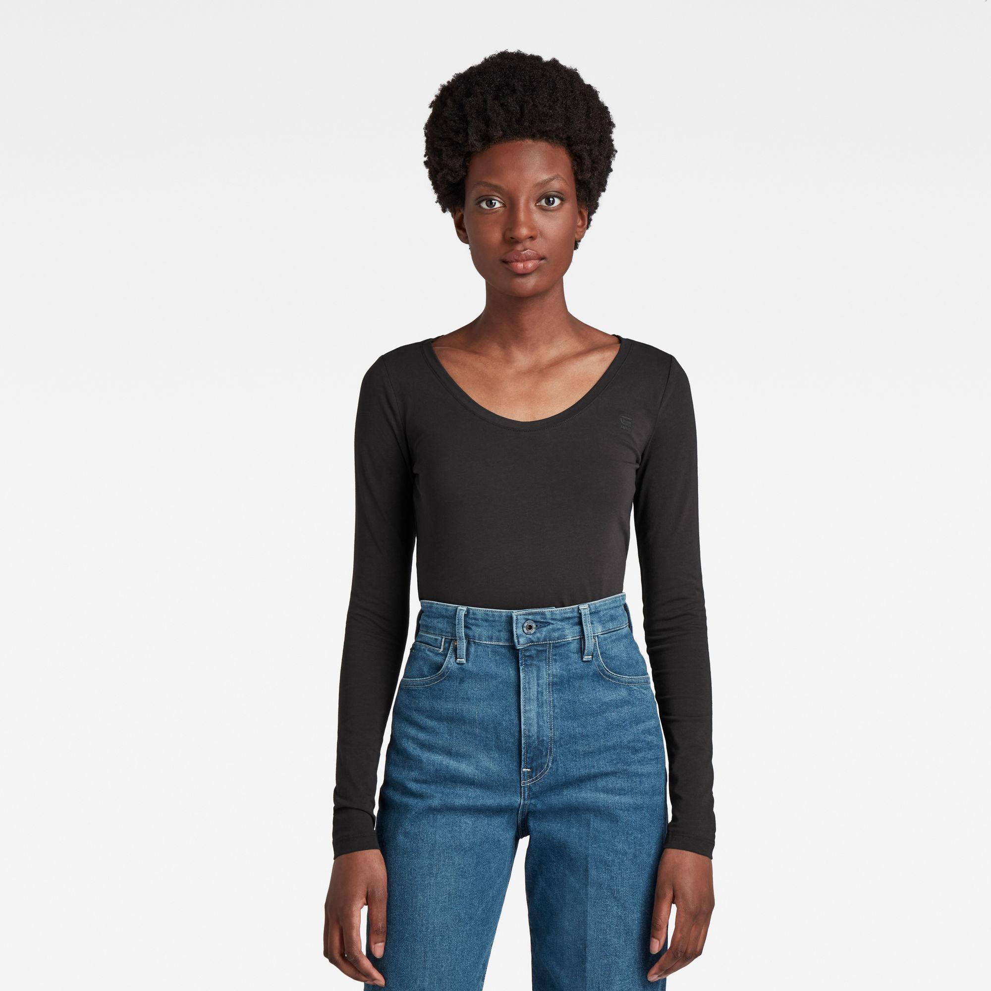 G-Star RAW Dames Basic Round Neck T-Shirt Zwart