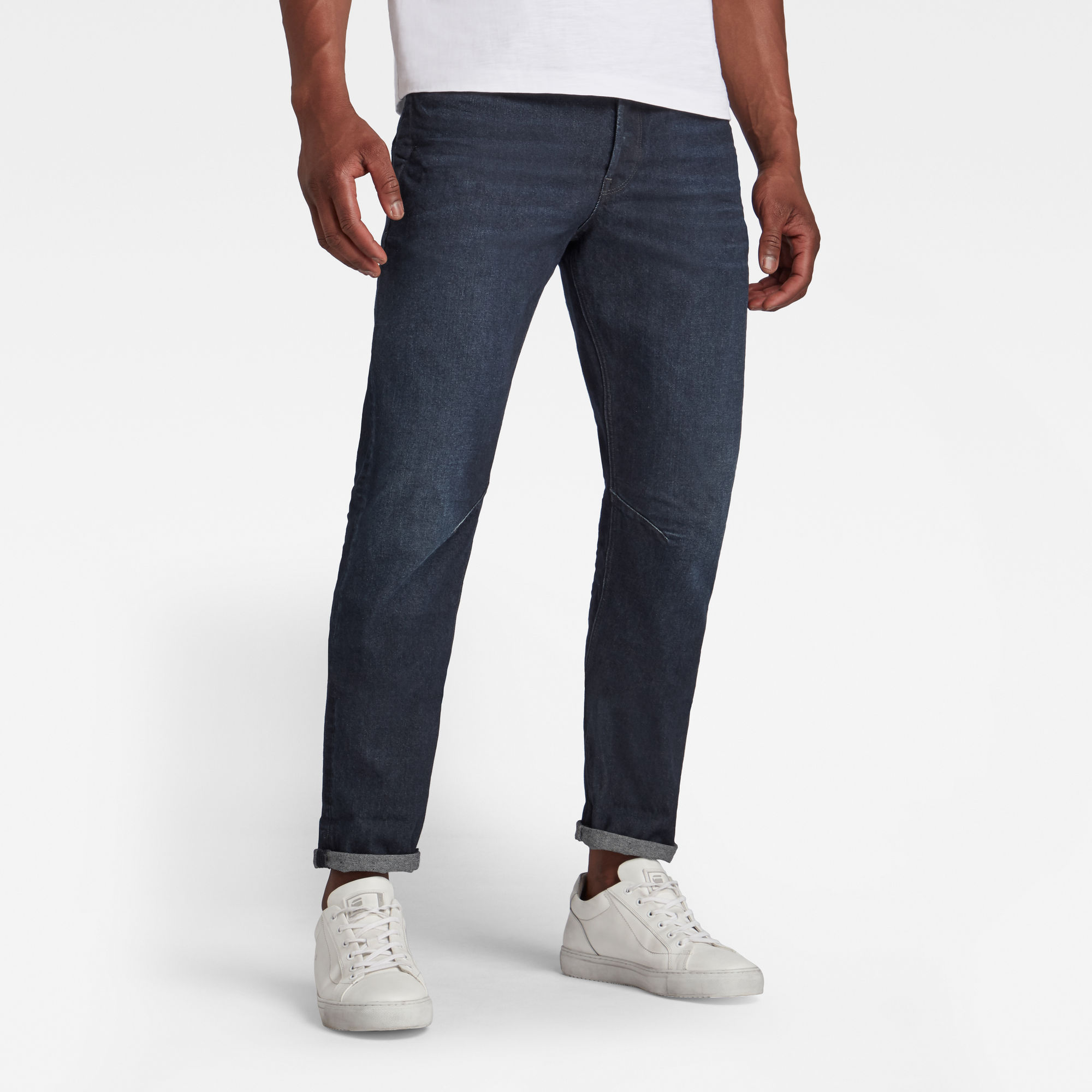 G-Star RAW Heren A-Staq Tapered Jeans Donkerblauw