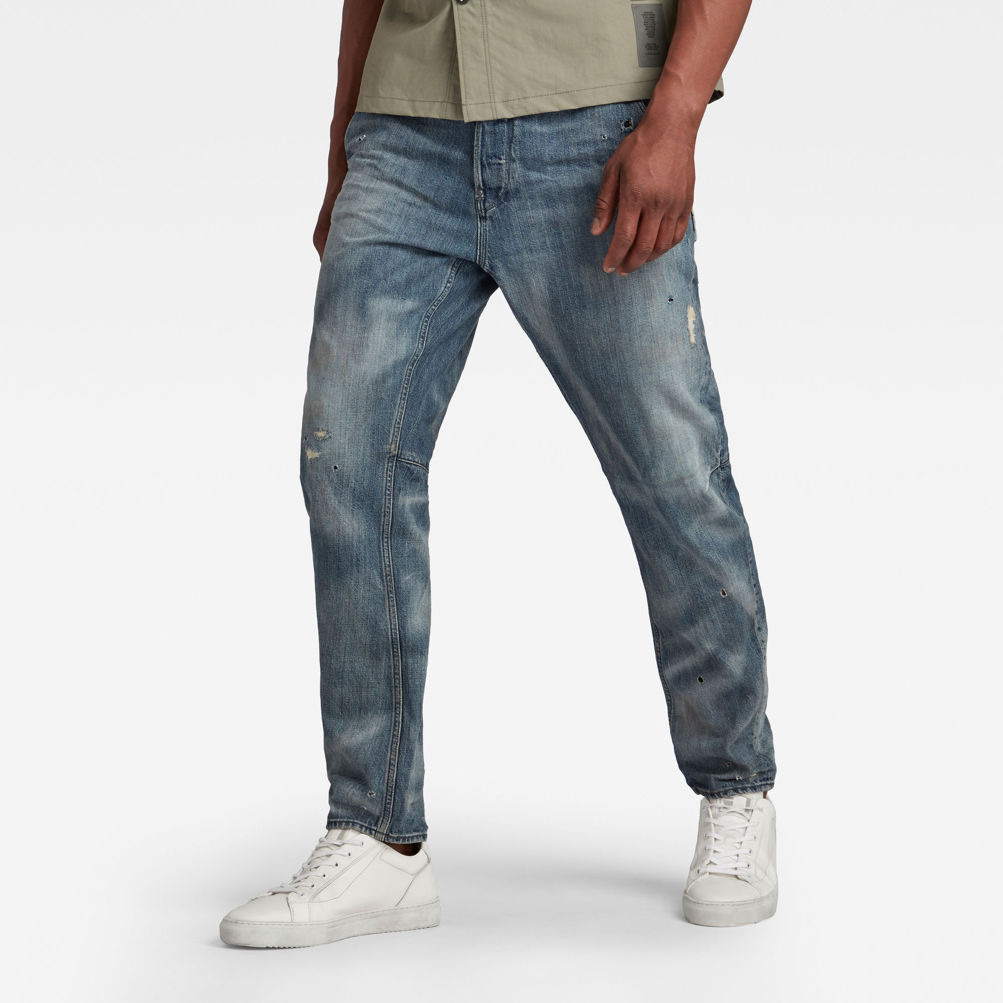 G-Star RAW Heren Grip 3D Relaxed Tapered Jeans Blauw