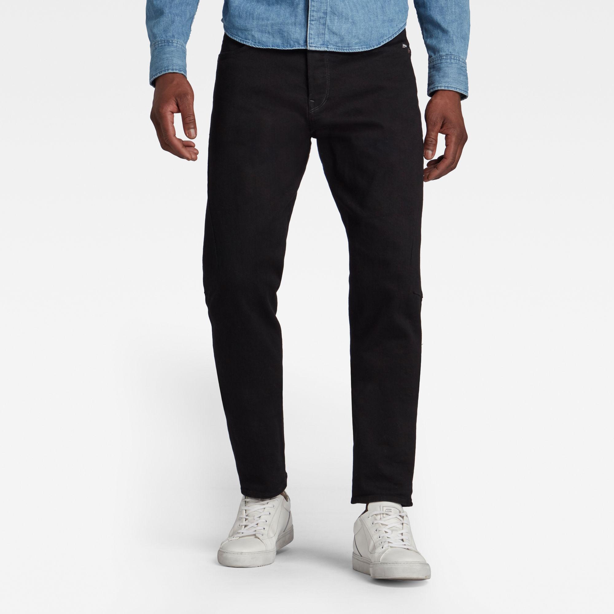 G-Star RAW Heren Scutar 3D Slim Tapered Jeans Zwart