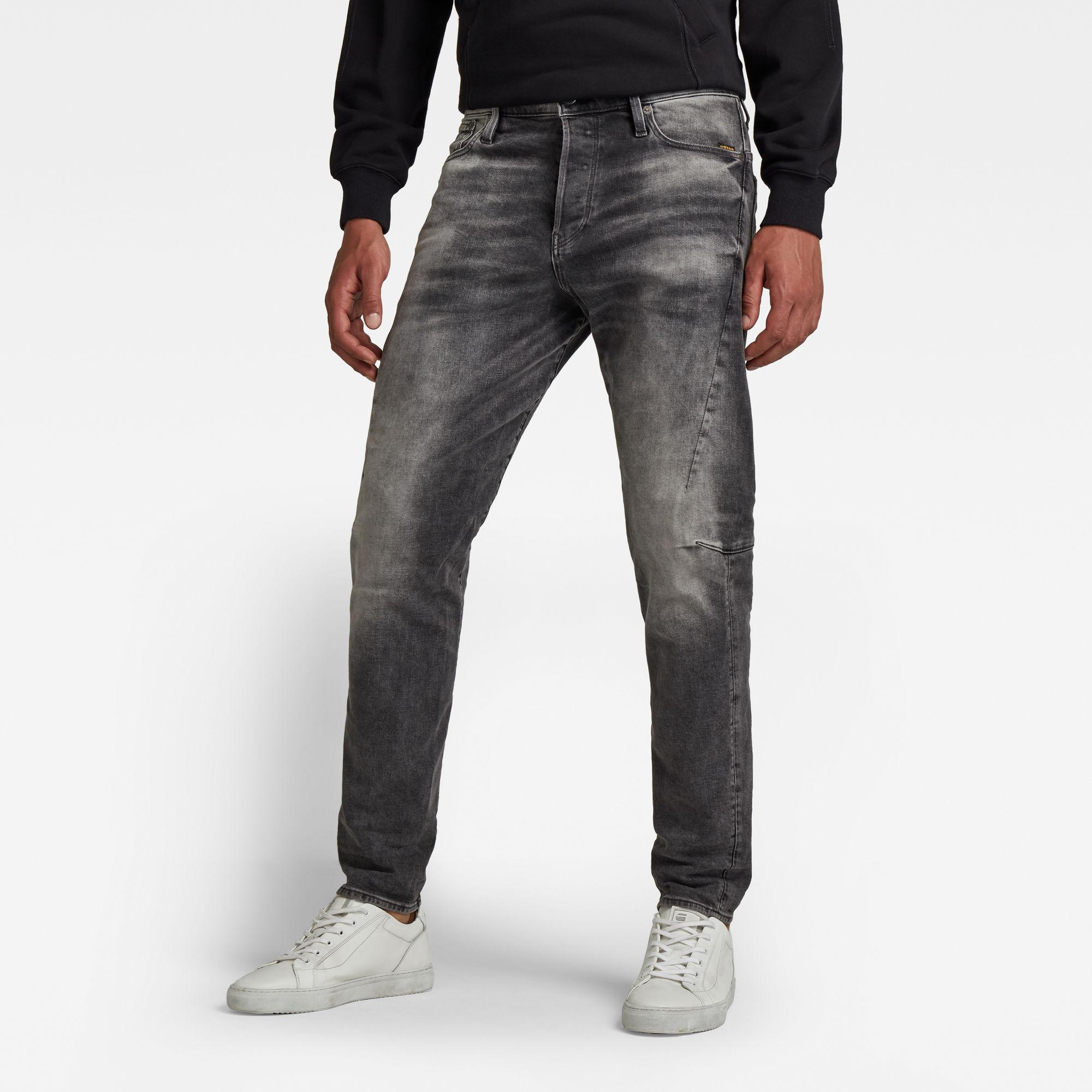 G-Star RAW Heren Scutar 3D Tapered Jeans Grijs