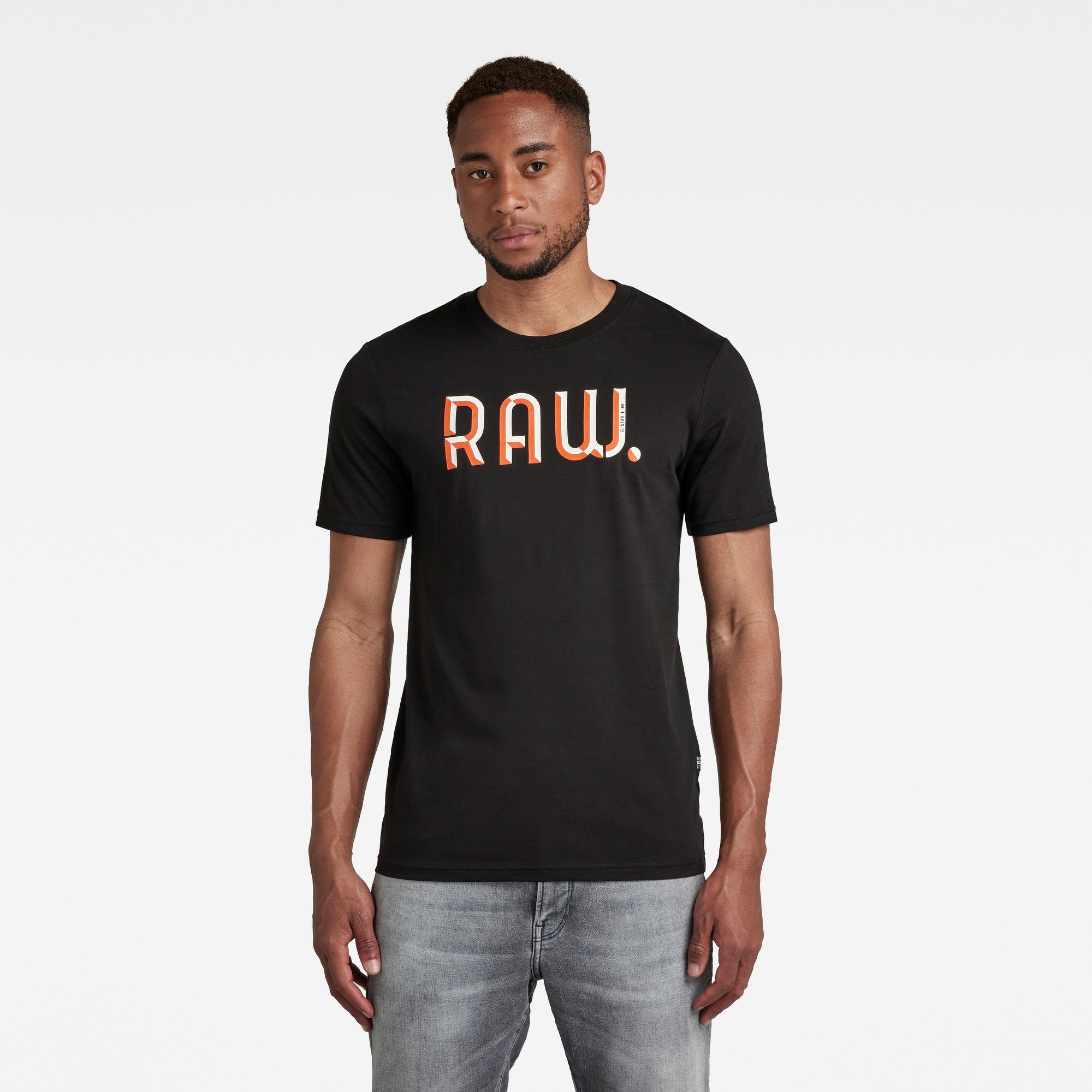 G-Star RAW Heren 3D RAW. Slim T-Shirt Zwart