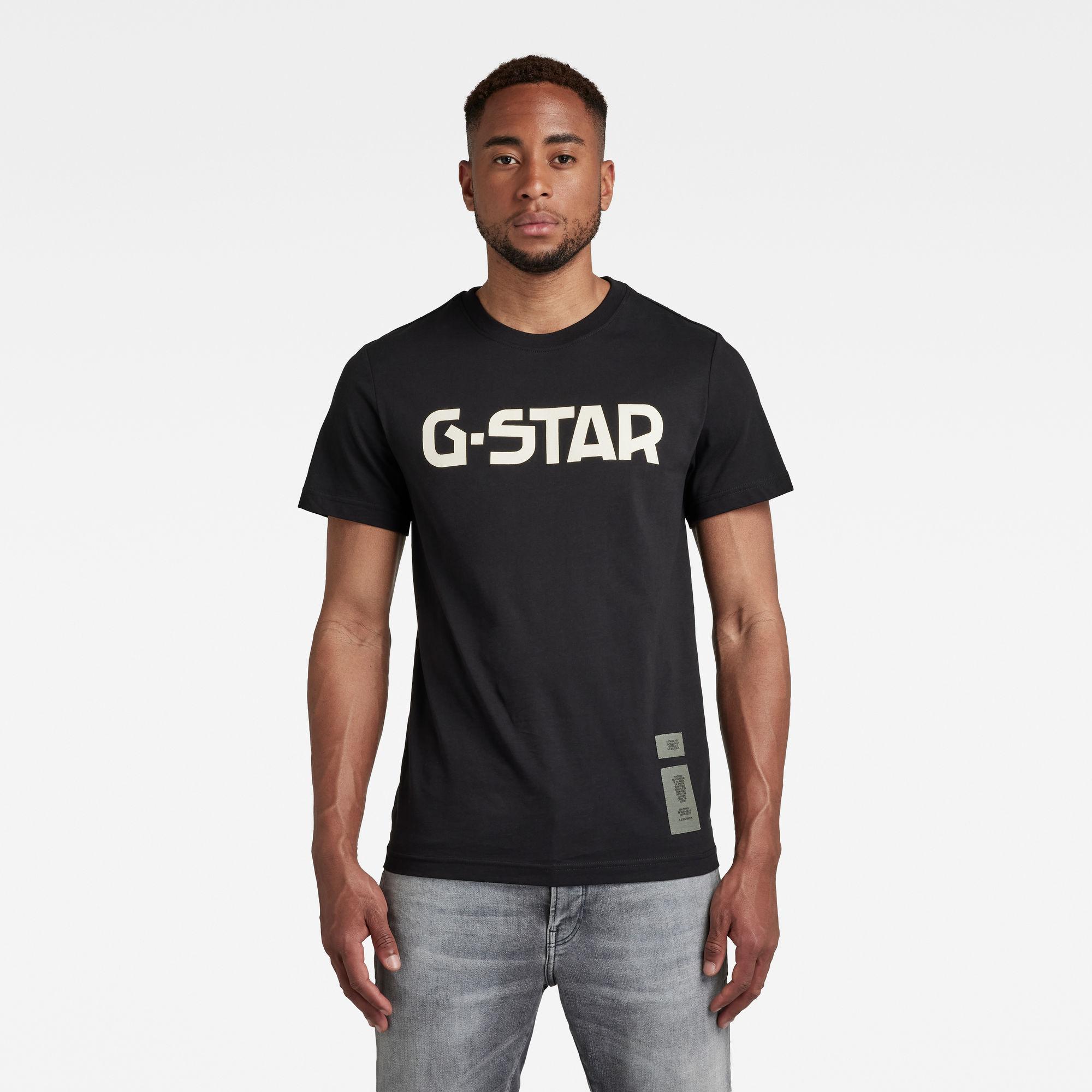G-Star RAW Heren G-Star T-Shirt Zwart