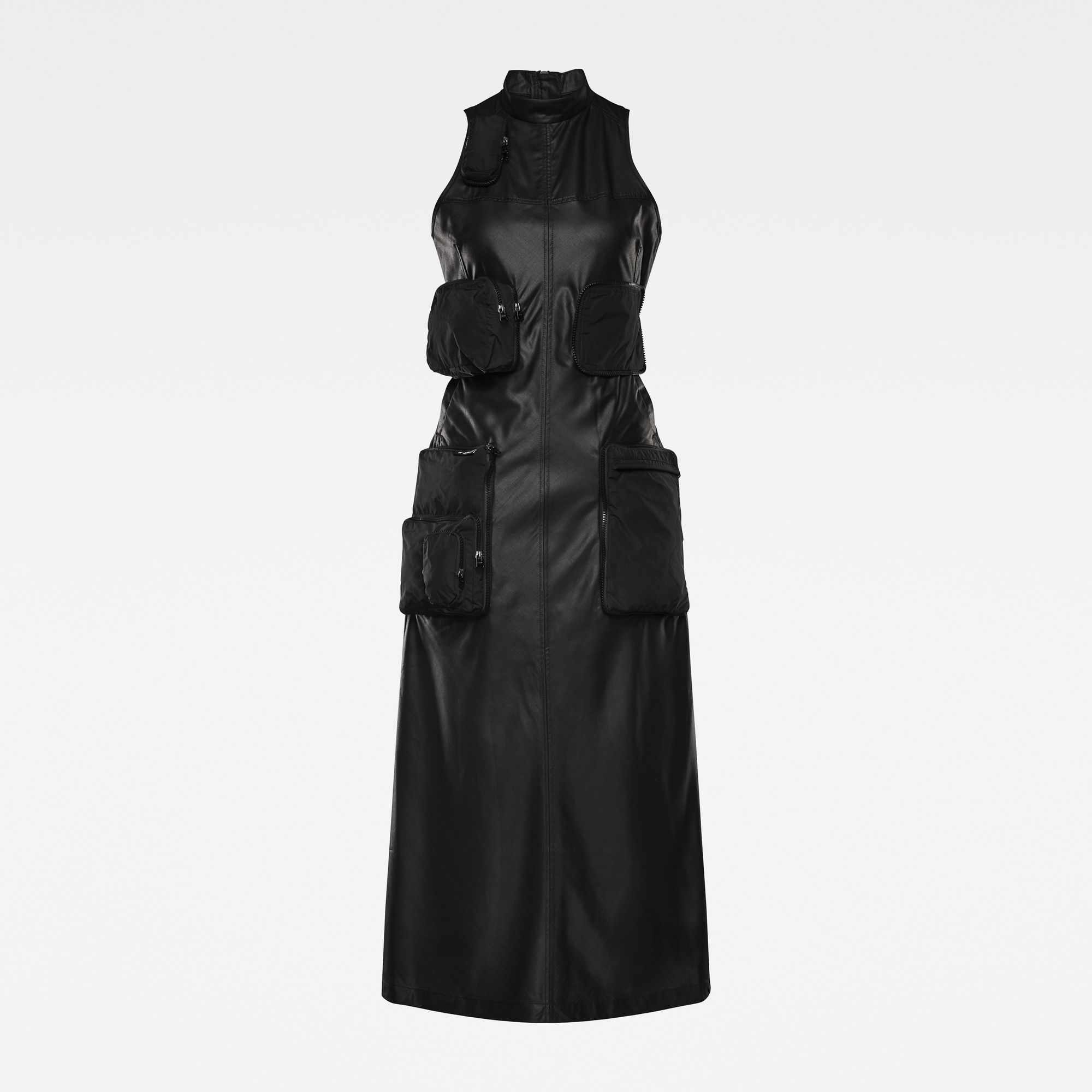 G-Star RAW Dames E Multipocket Maxi Dress Zwart